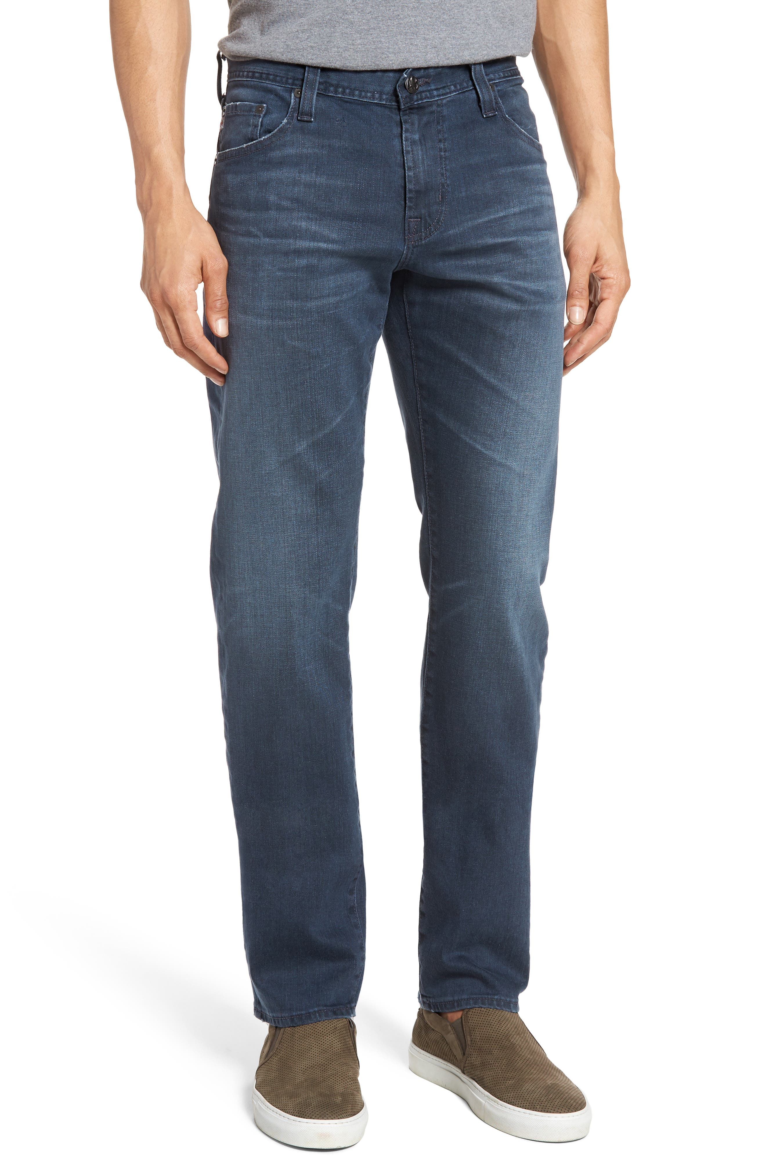 Graduate Slim Straight Leg Jeans,                             Main thumbnail 1, color,                             7 Years Blue Peril