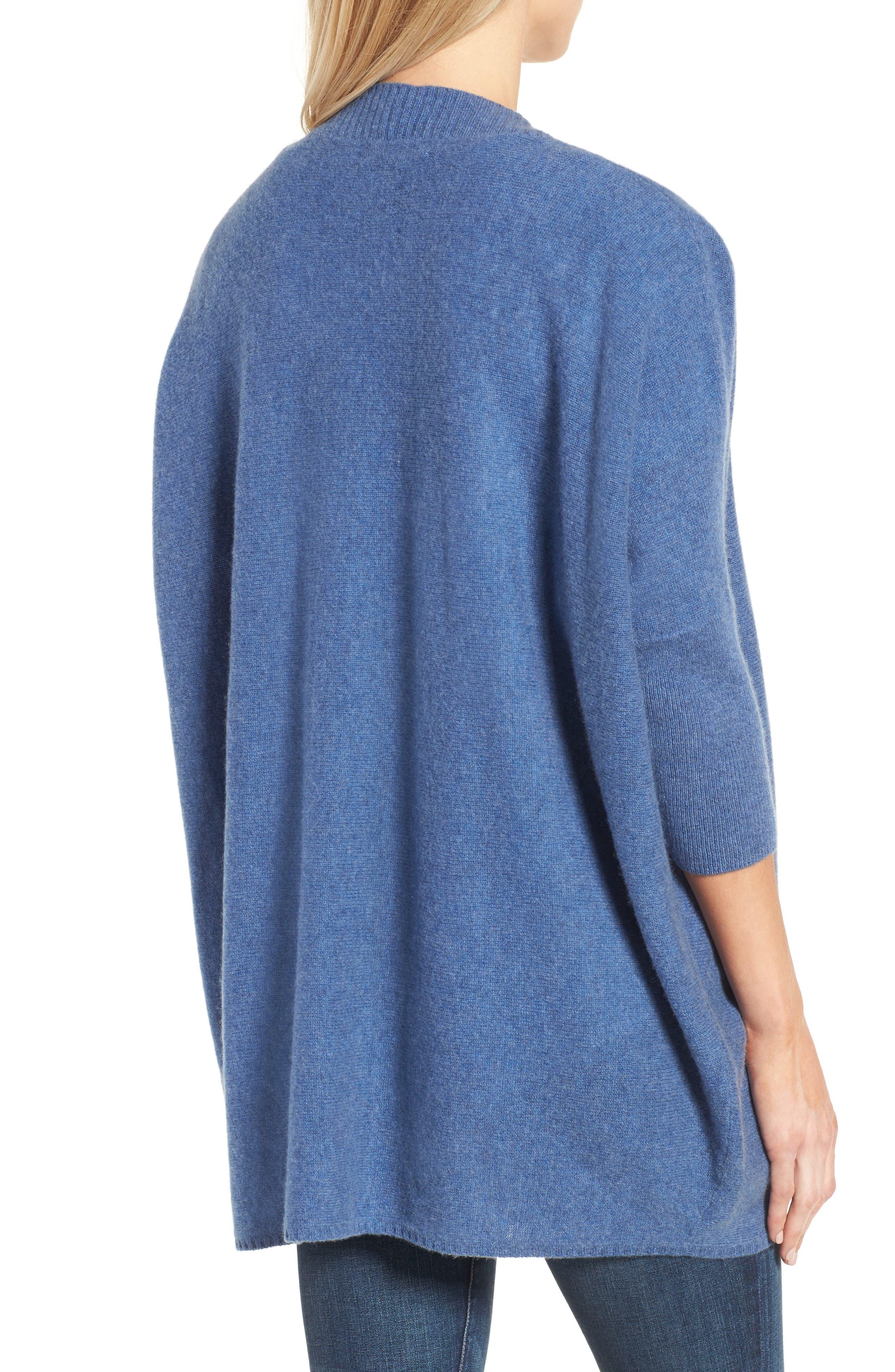 Alternate Image 2  - Halogen® Three-Quarter Sleeve Cashmere Cardigan