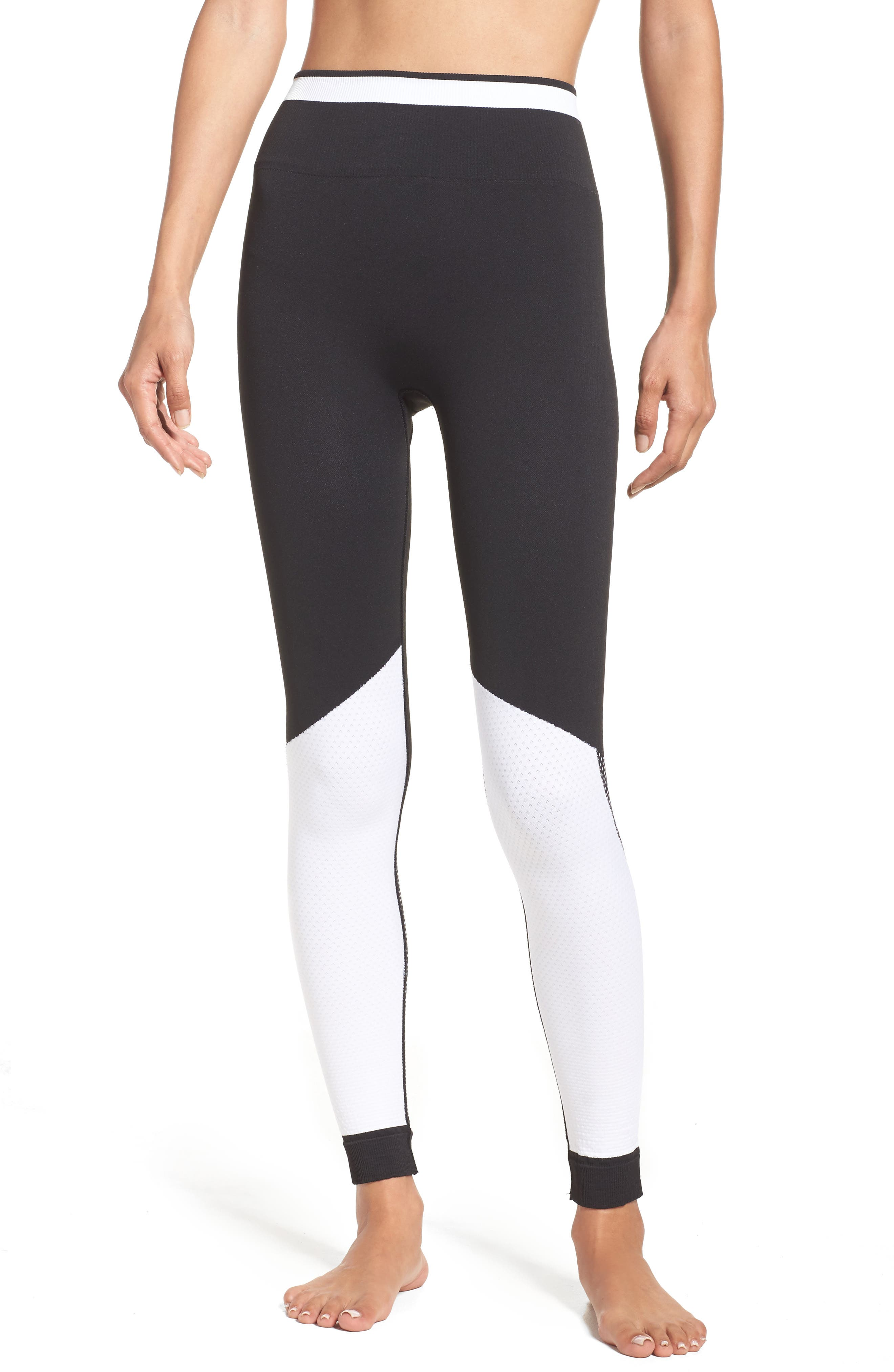 Ace Performance Tights,                         Main,                         color, Black/ White