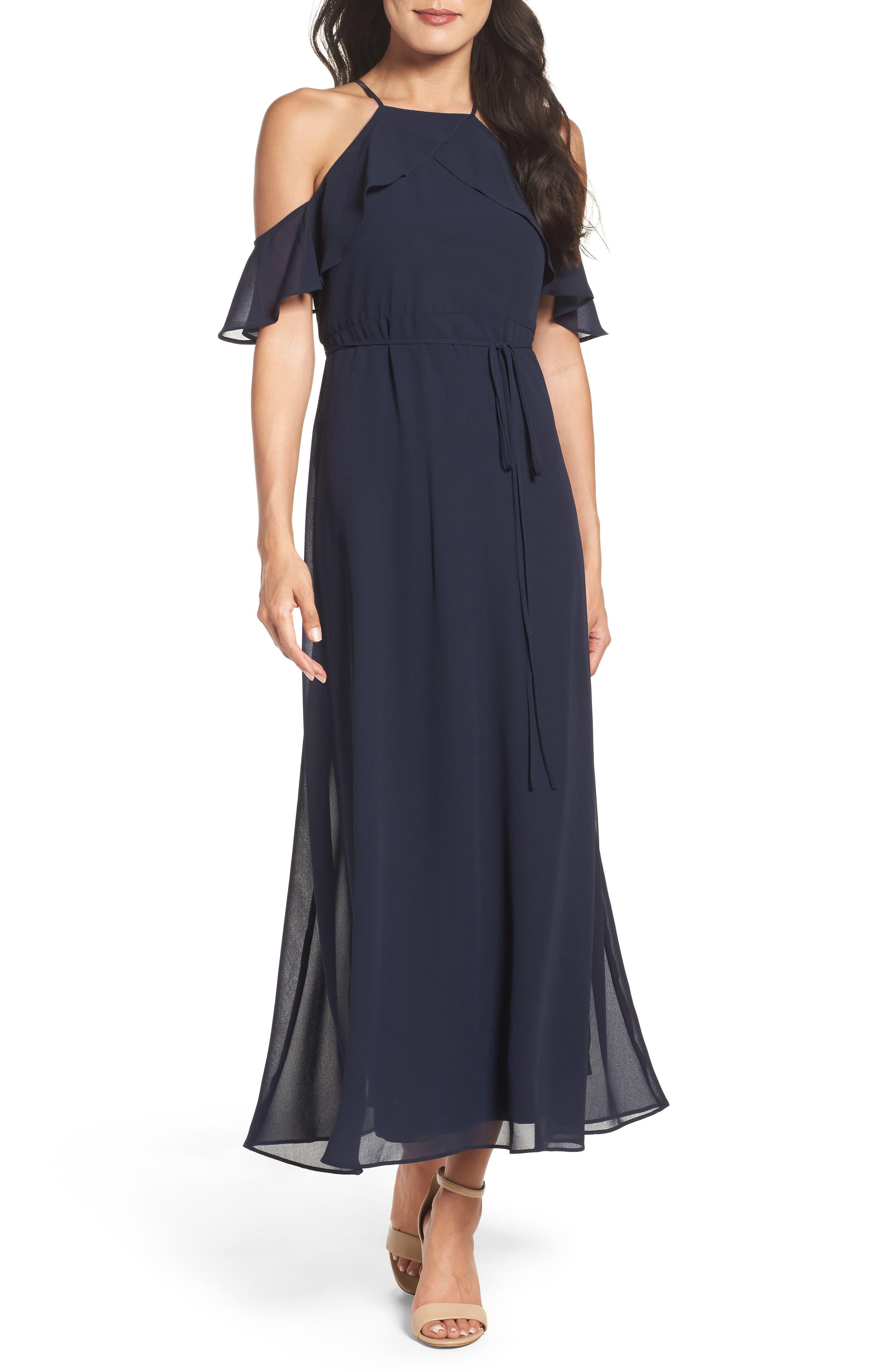 Gabby Skye Cold Shoulder Maxi Dress | Nordstrom