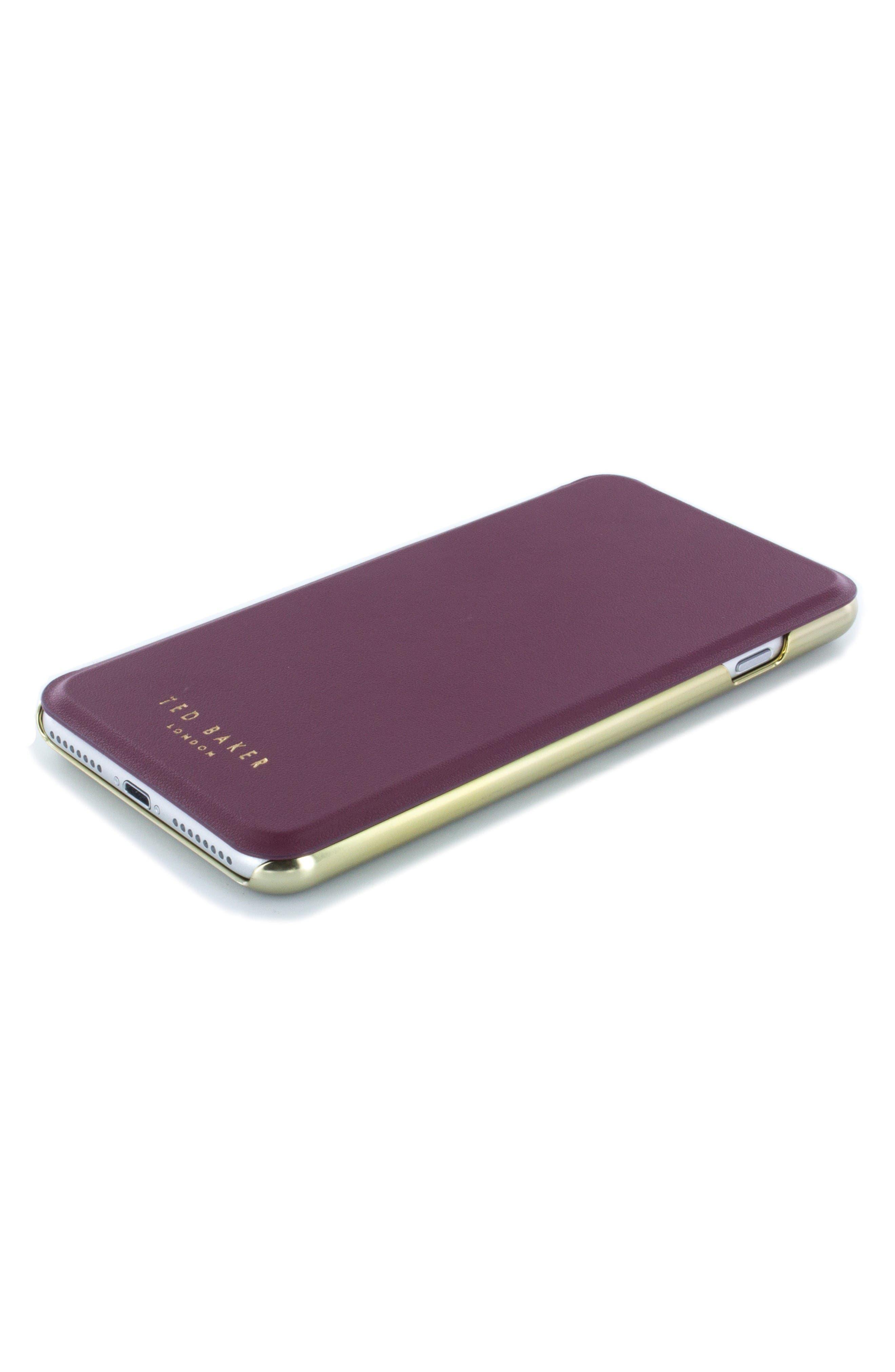Shannon iPhone 6/6s/7/8 Plus Mirror Folio Case,                             Alternate thumbnail 3, color,                             Red