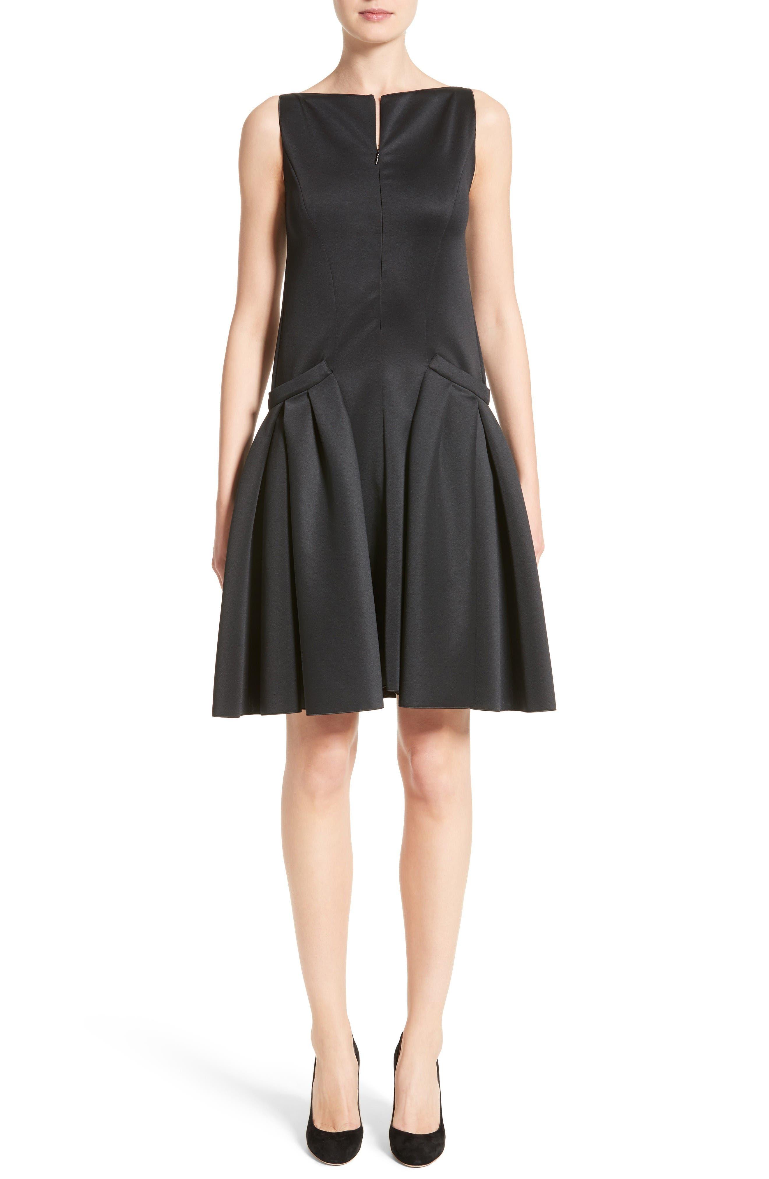 Armani Collezioni Neoprene Fit & Flare Dress