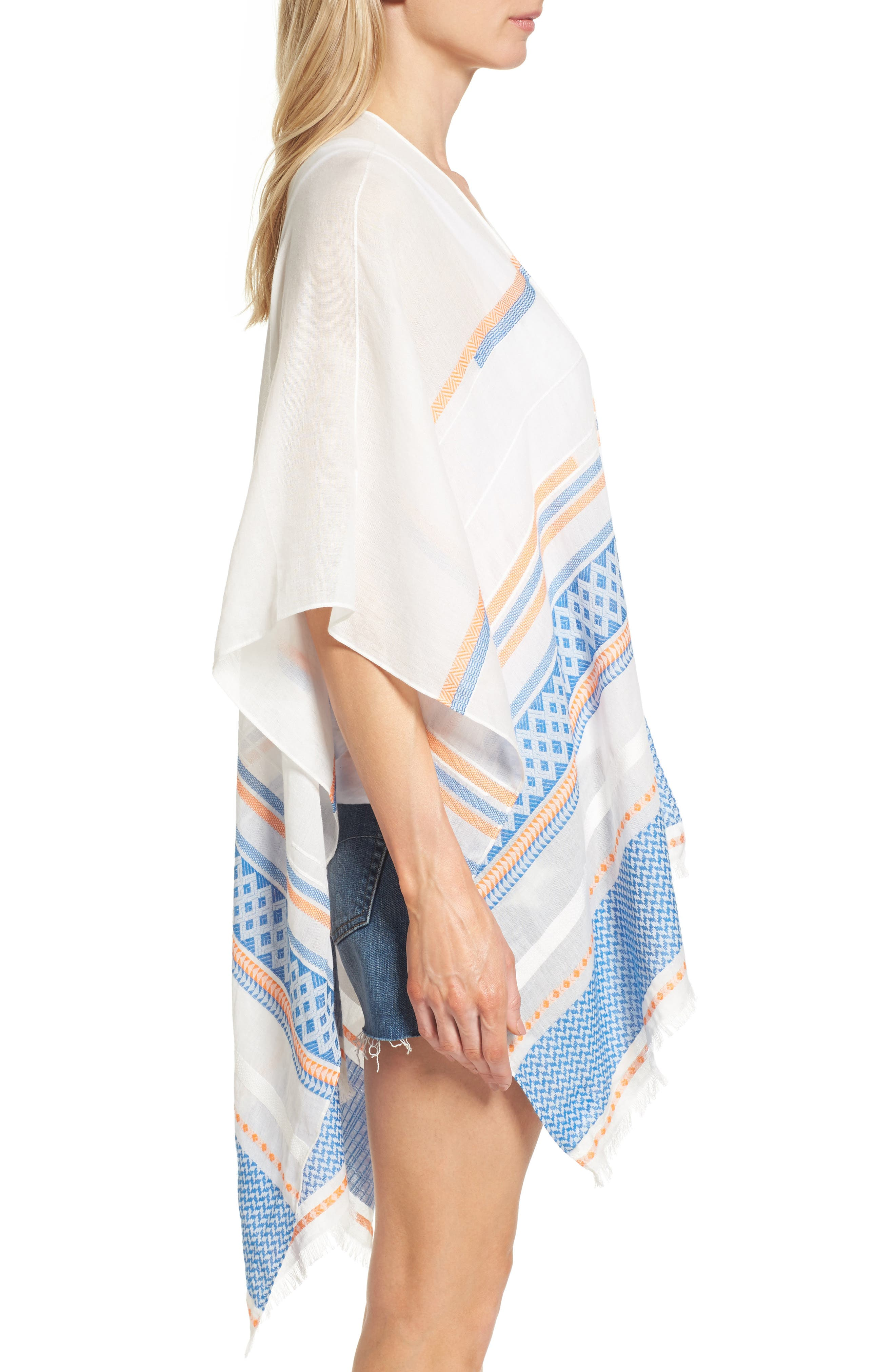 Alternate Image 3  - Rebecca Minkoff Broken Stripe Cape