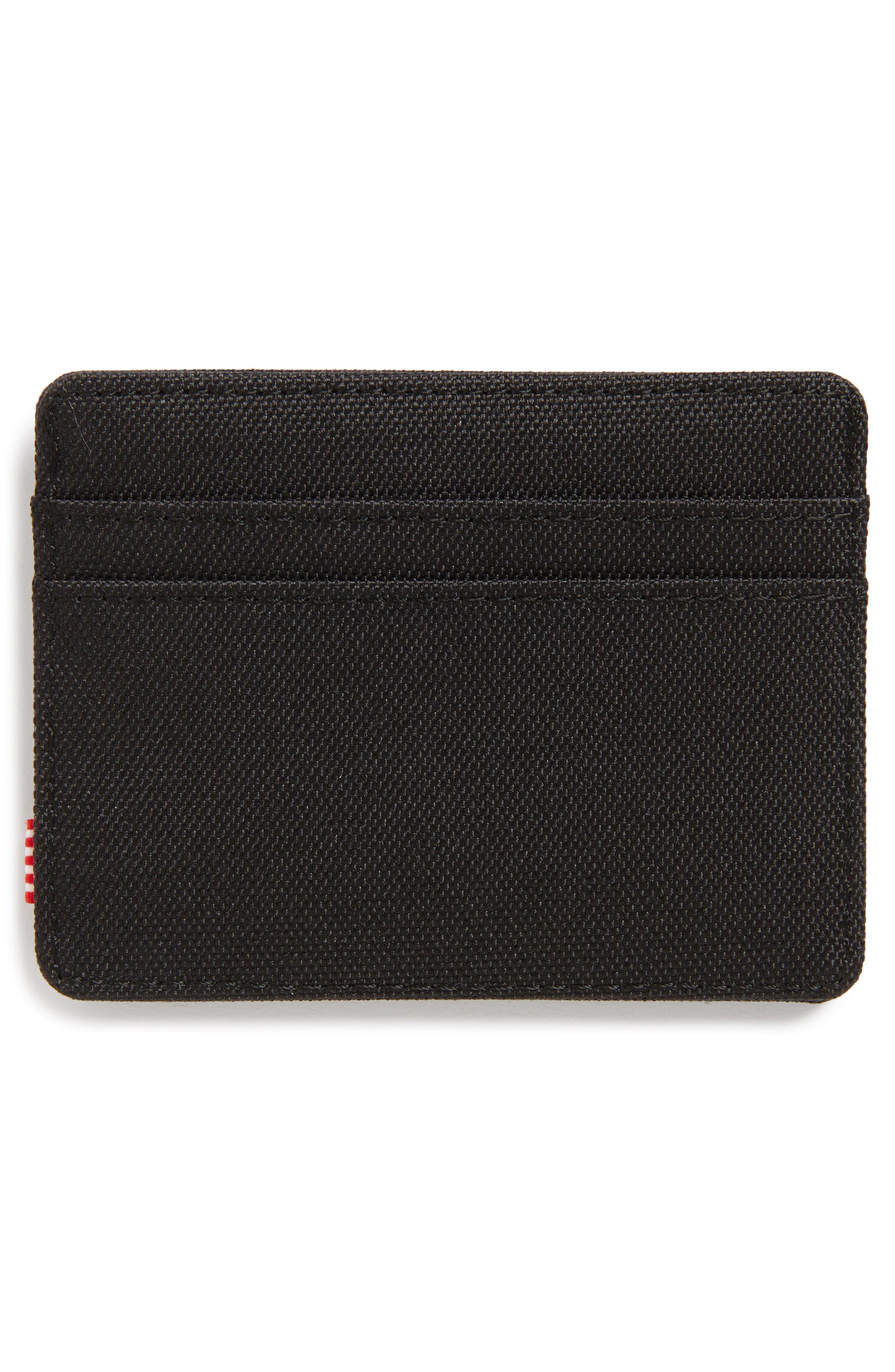 Charlie RFID Card Case,                             Alternate thumbnail 2, color,                             Black