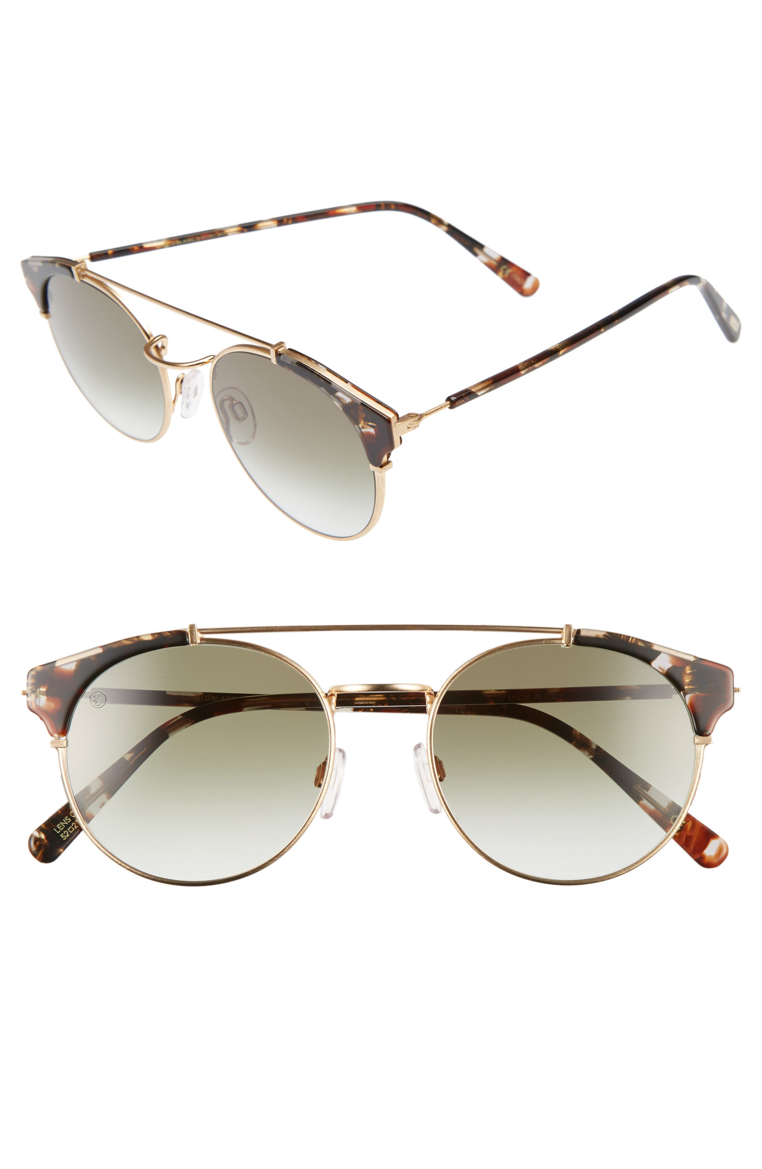 Alternate Image 1 Selected - D'BLANC x Amuse Society Dosed Marquis 52mm Gradient Round Aviator Sunglasses