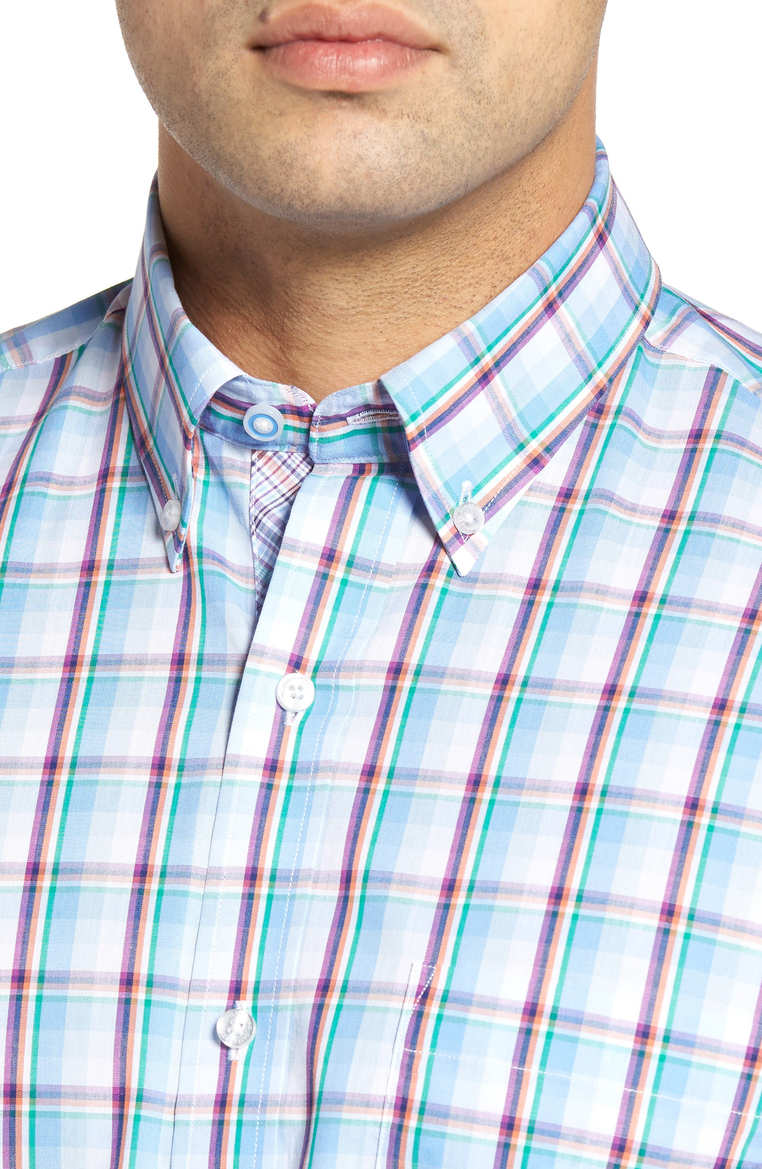 Alternate Image 4  - TailorByrd Pinyon Plaid Sport Shirt