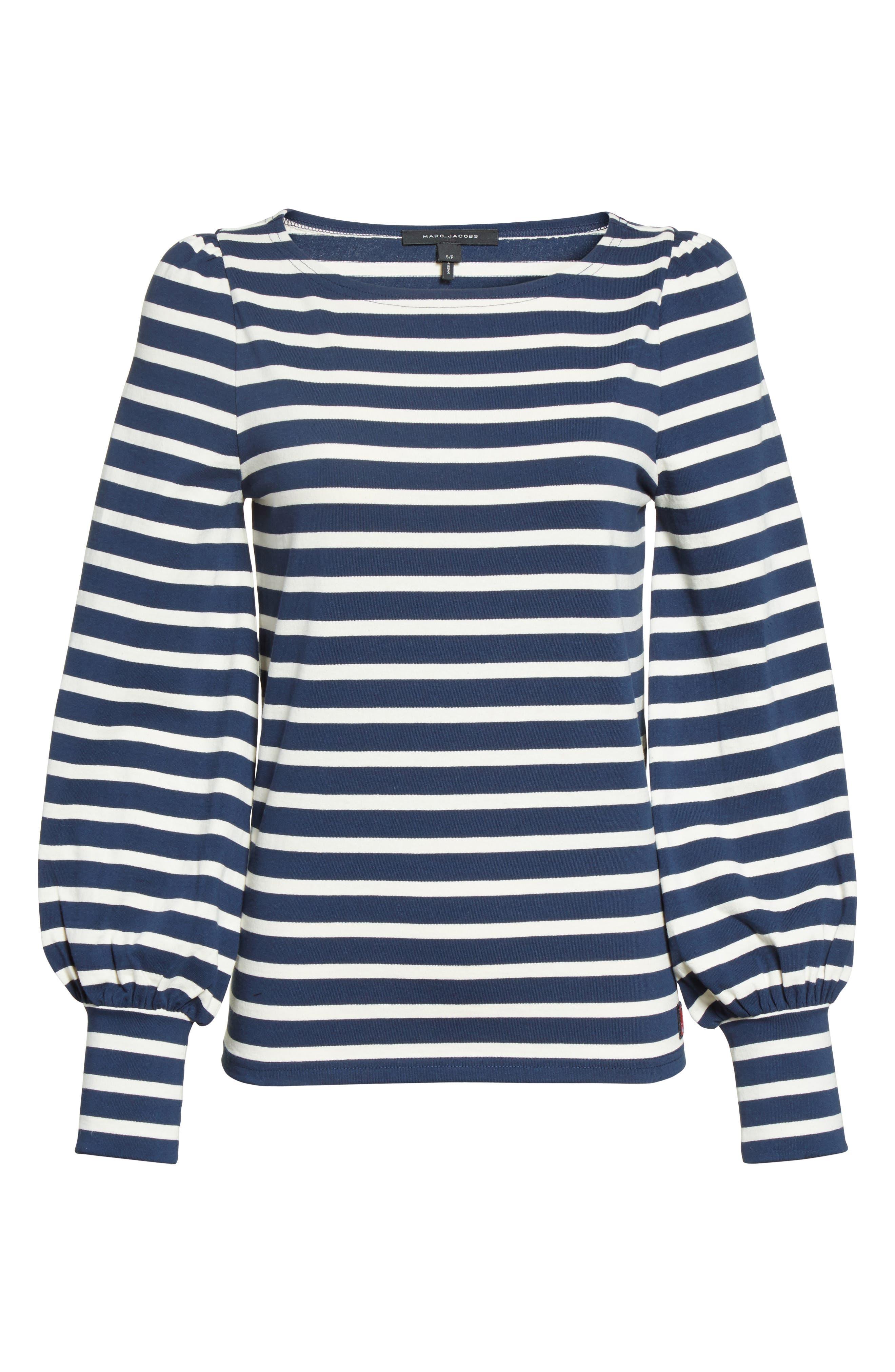 Alternate Image 4  - MARC JACOBS Reverse Breton Stripe Bell Sleeve Top