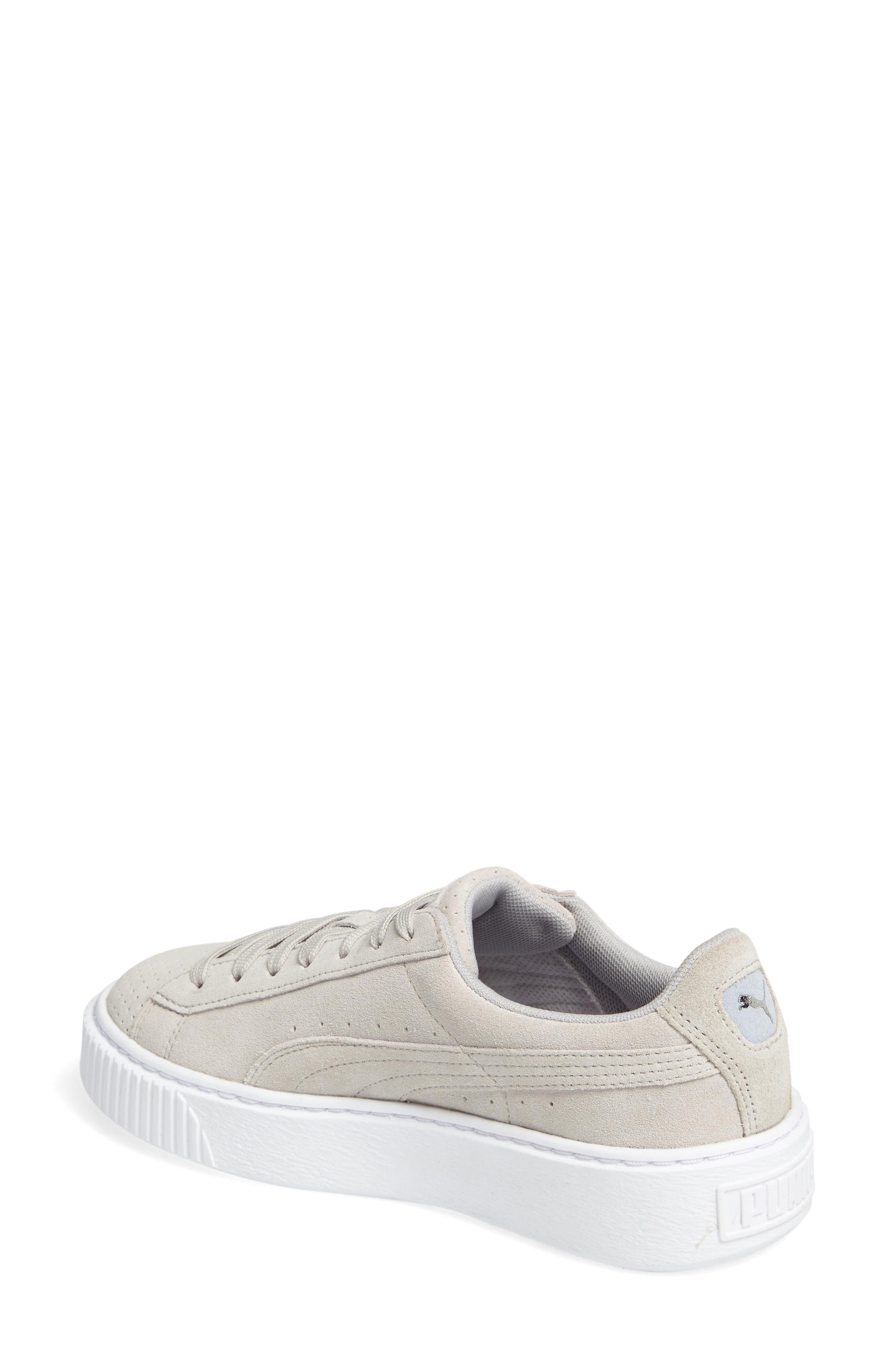 Basket Platform Sneaker,                             Alternate thumbnail 3, color,                             Grey Violet/ Silver