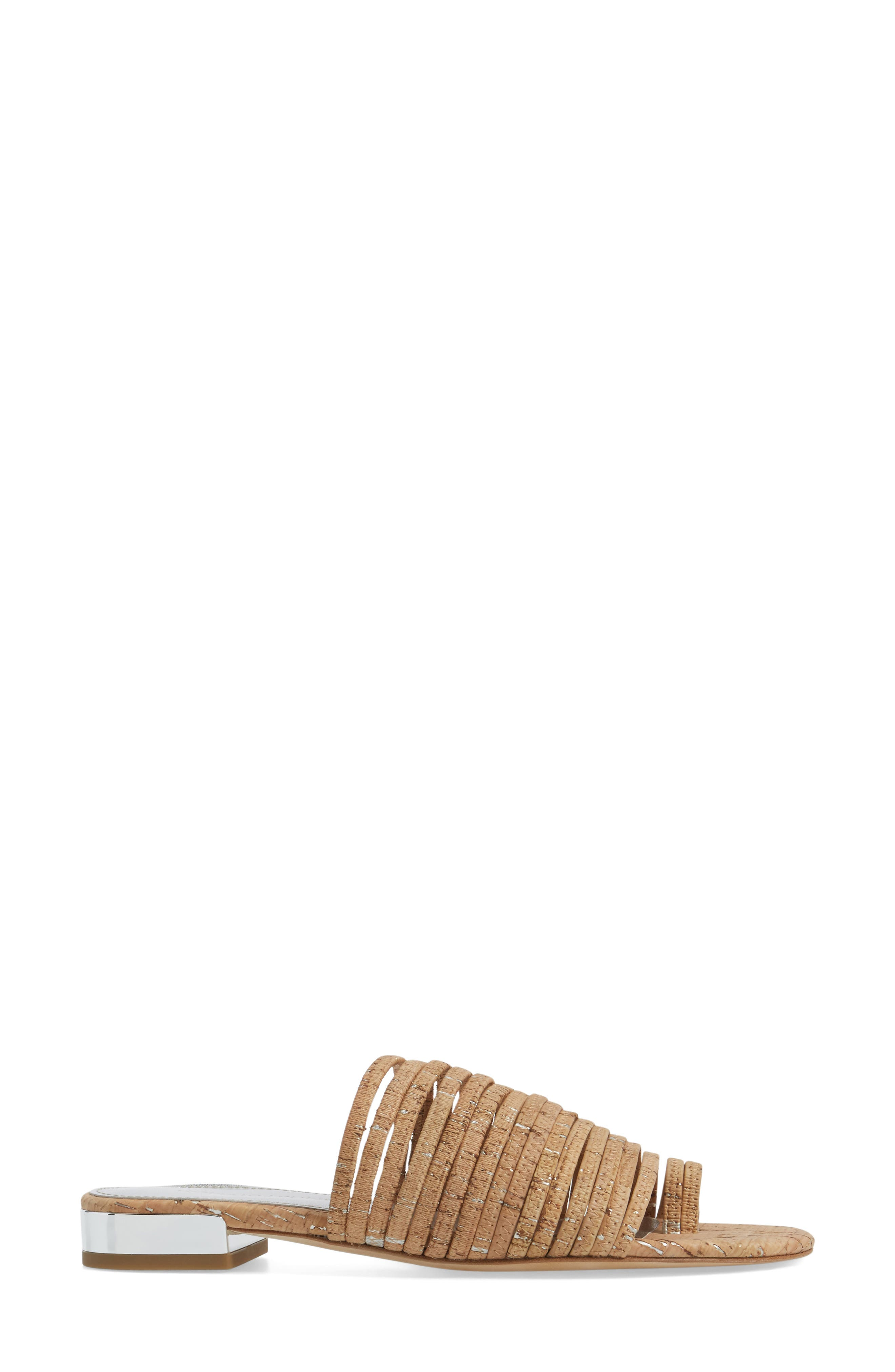 Frea Strappy Sandal,                             Alternate thumbnail 3, color,                             Natural Cork