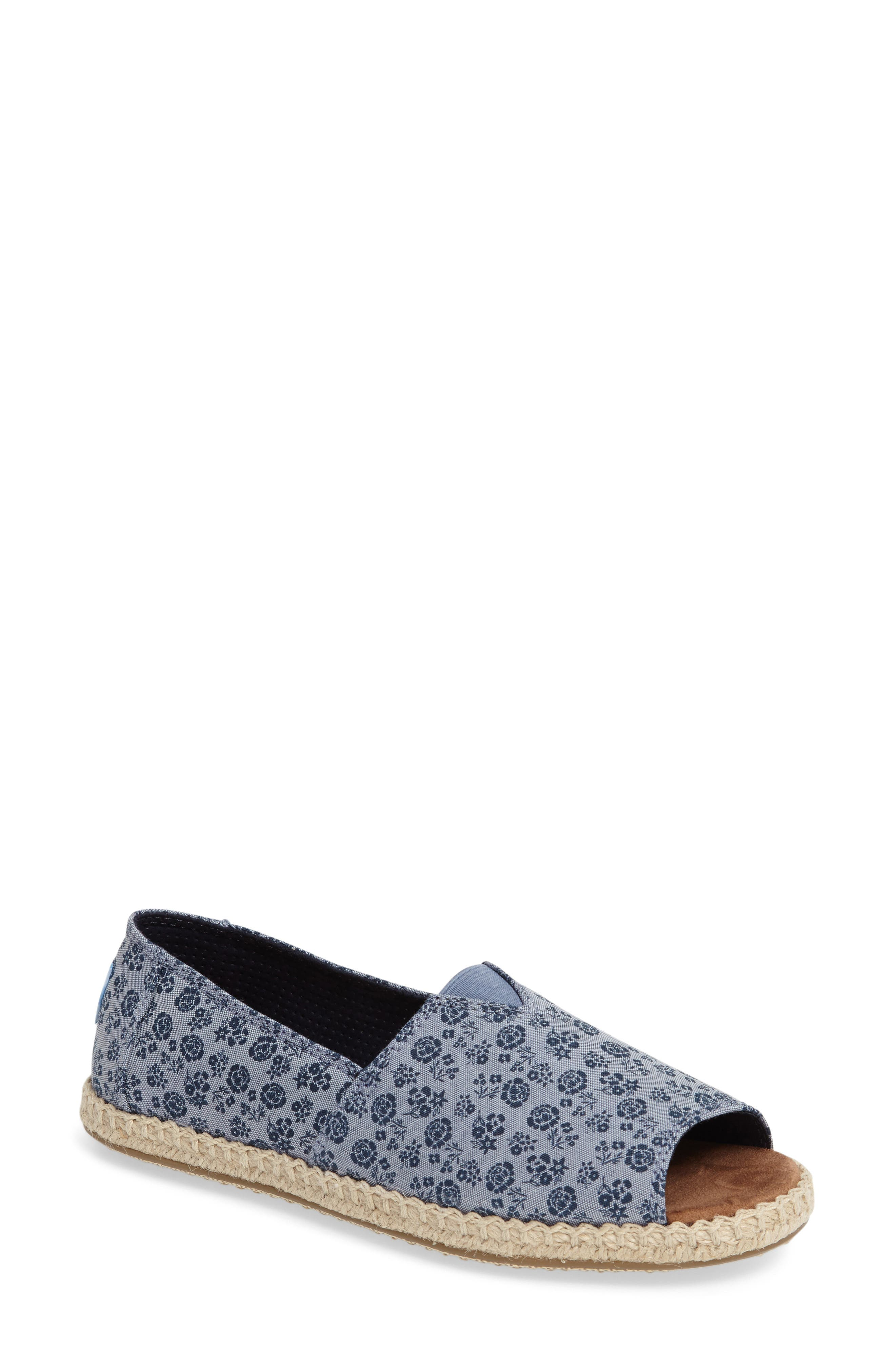 Alternate Image 1 Selected - TOMS Open Toe Espadrille Slip-On (Women)