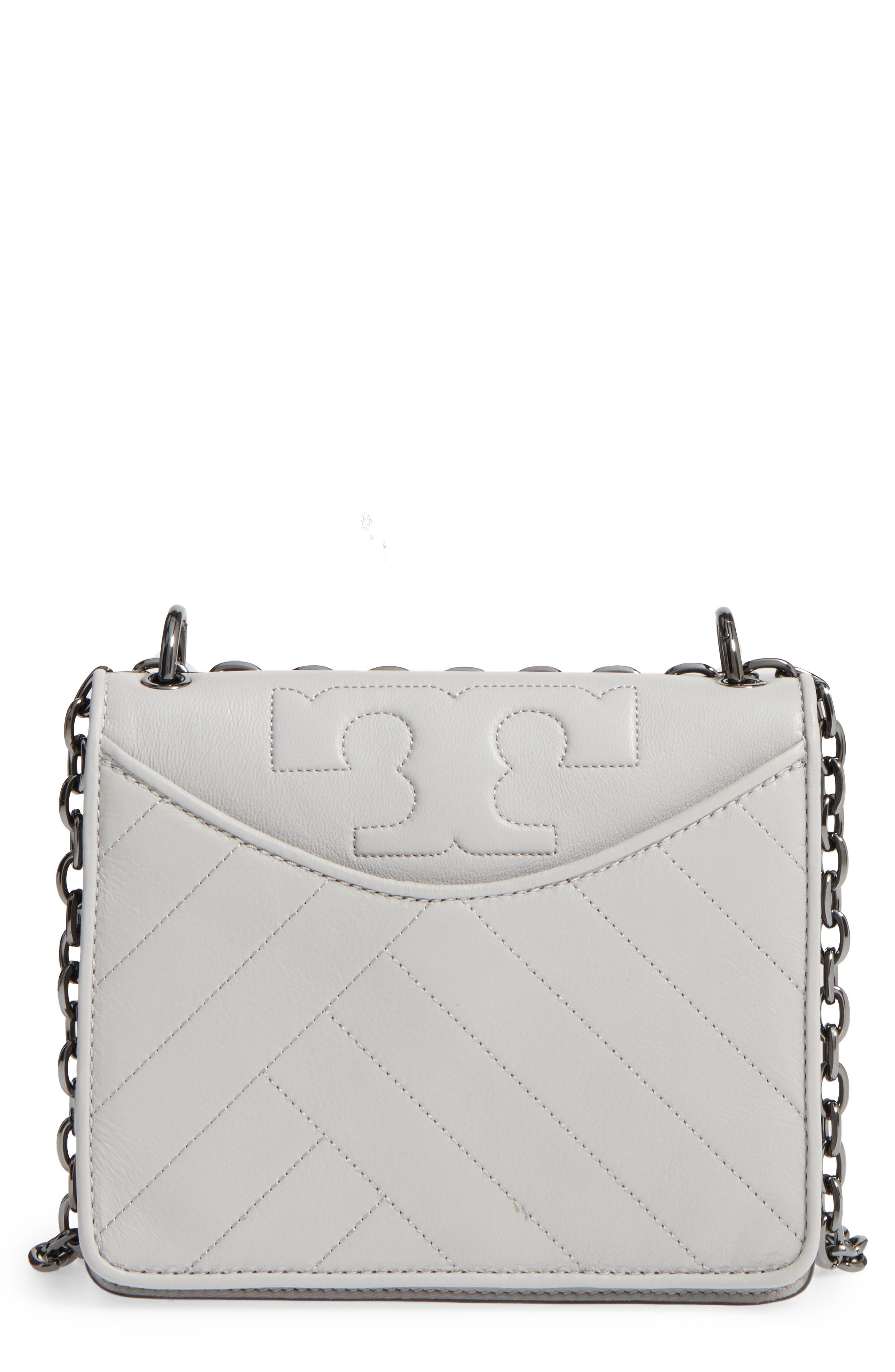Main Image - Tory Burch Chevron Quilted Leather Crossbody Bag