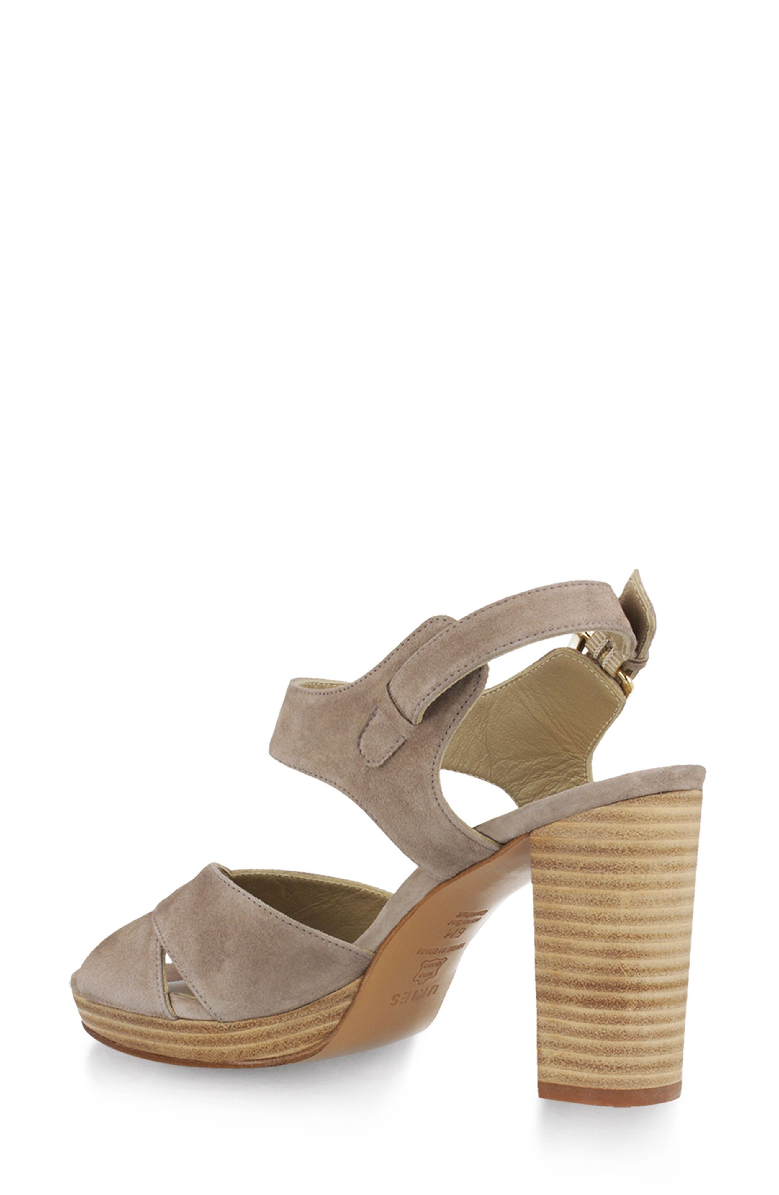 Tango Sandal,                             Alternate thumbnail 2, color,                             Taupe Suede