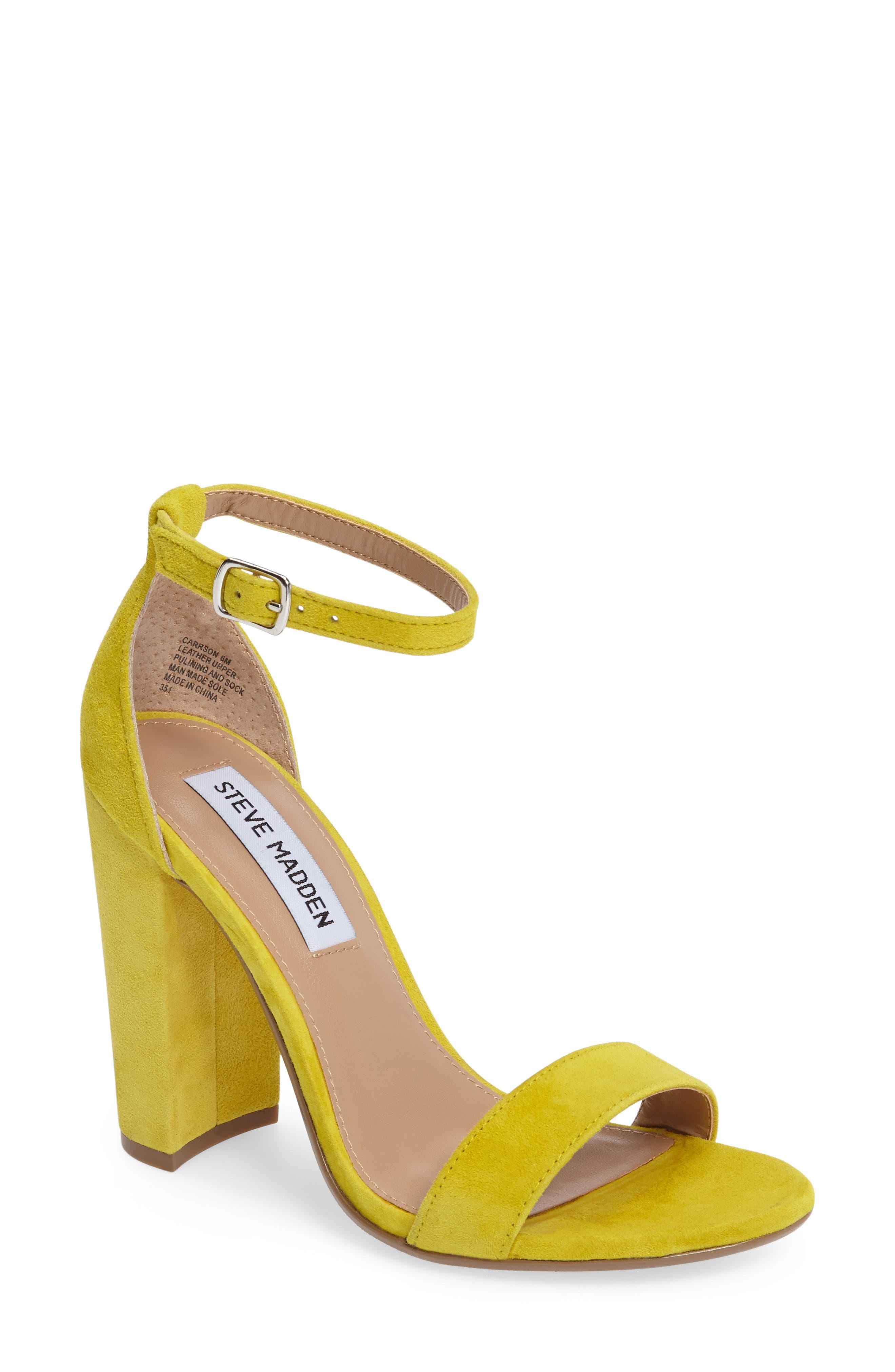 Yellow Heel Shoes WKmgFX1f