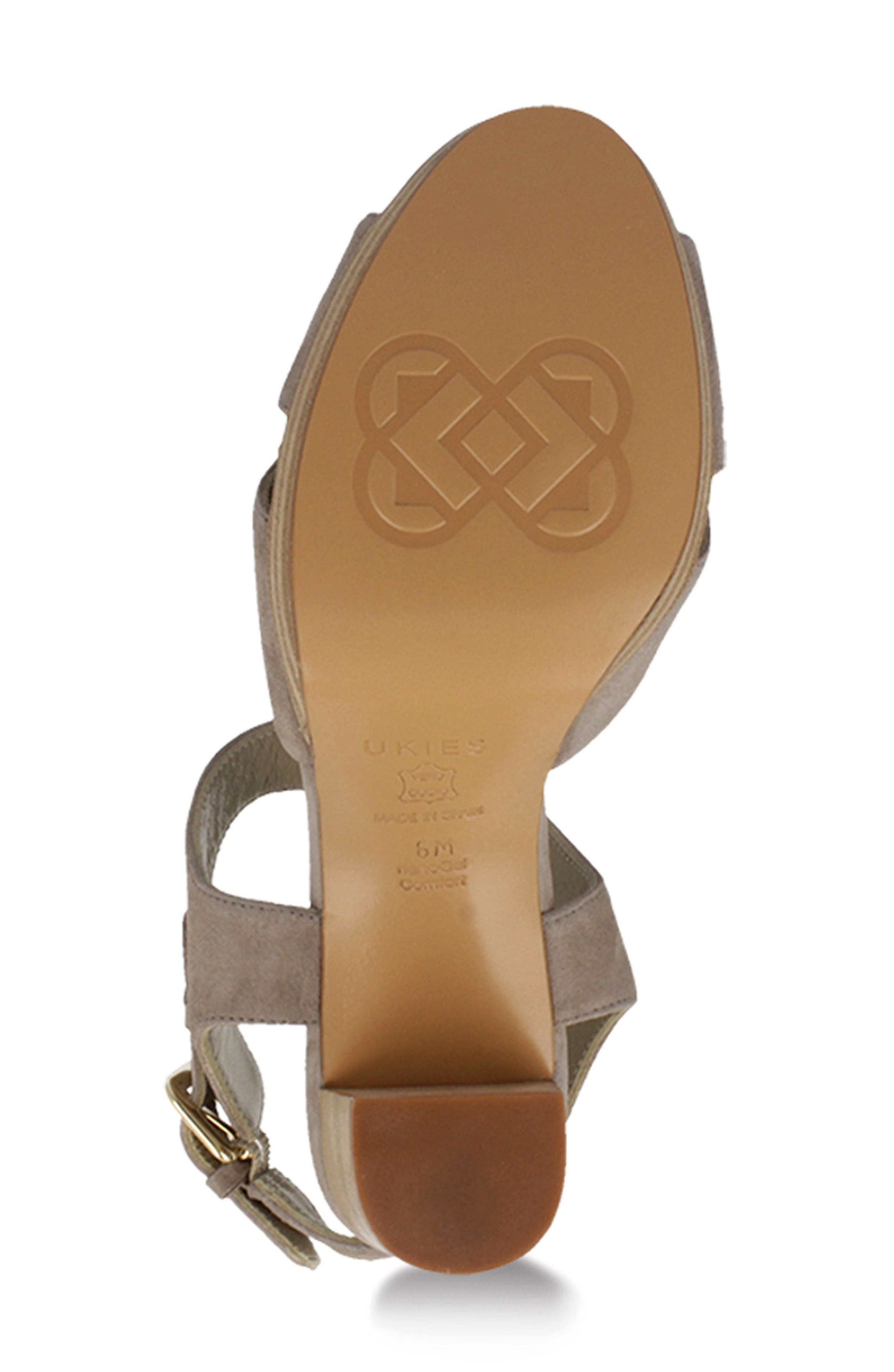 Tango Sandal,                             Alternate thumbnail 4, color,                             Taupe Suede