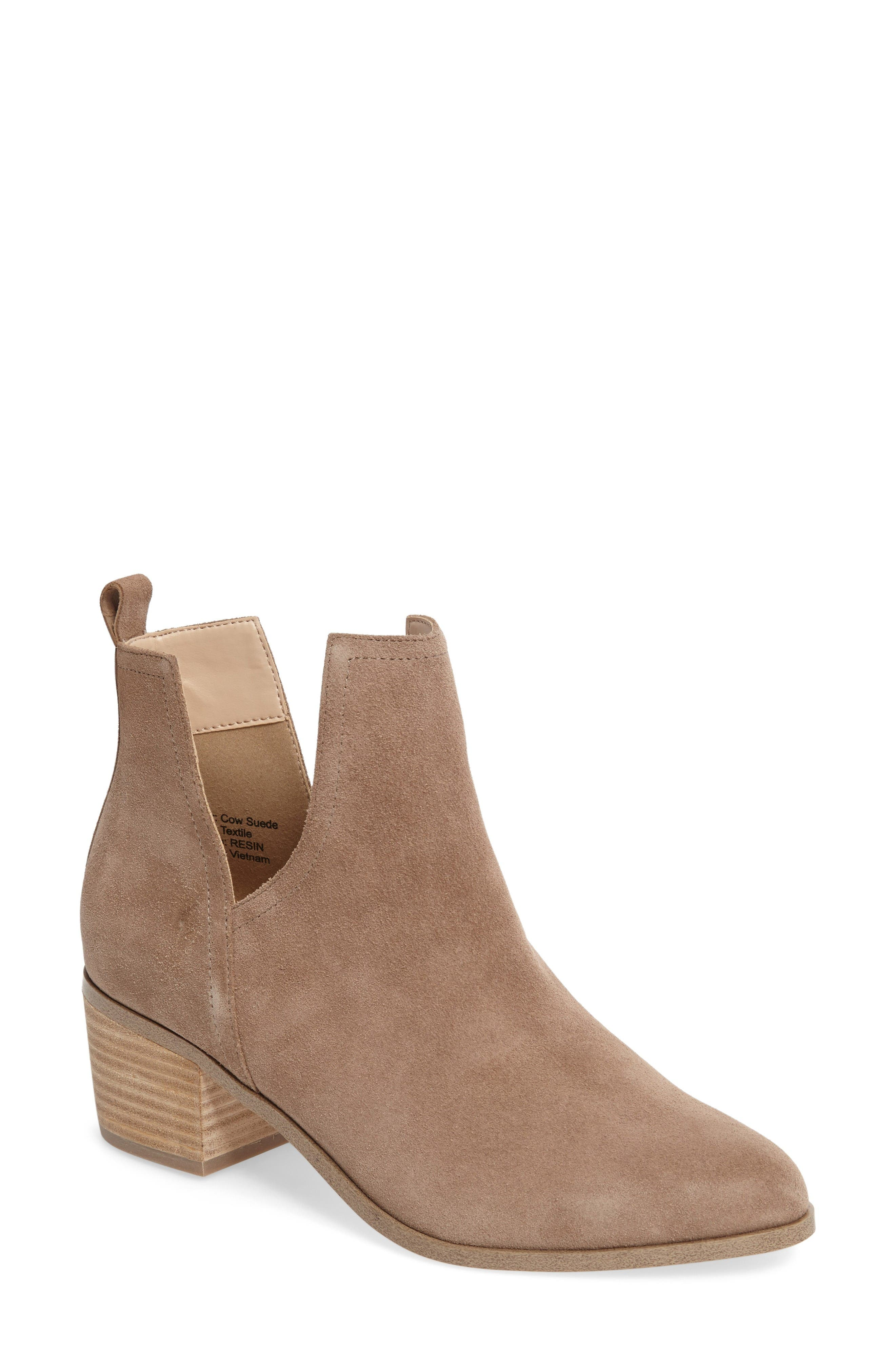 Madrid Bootie,                             Main thumbnail 1, color,                             Sand Suede