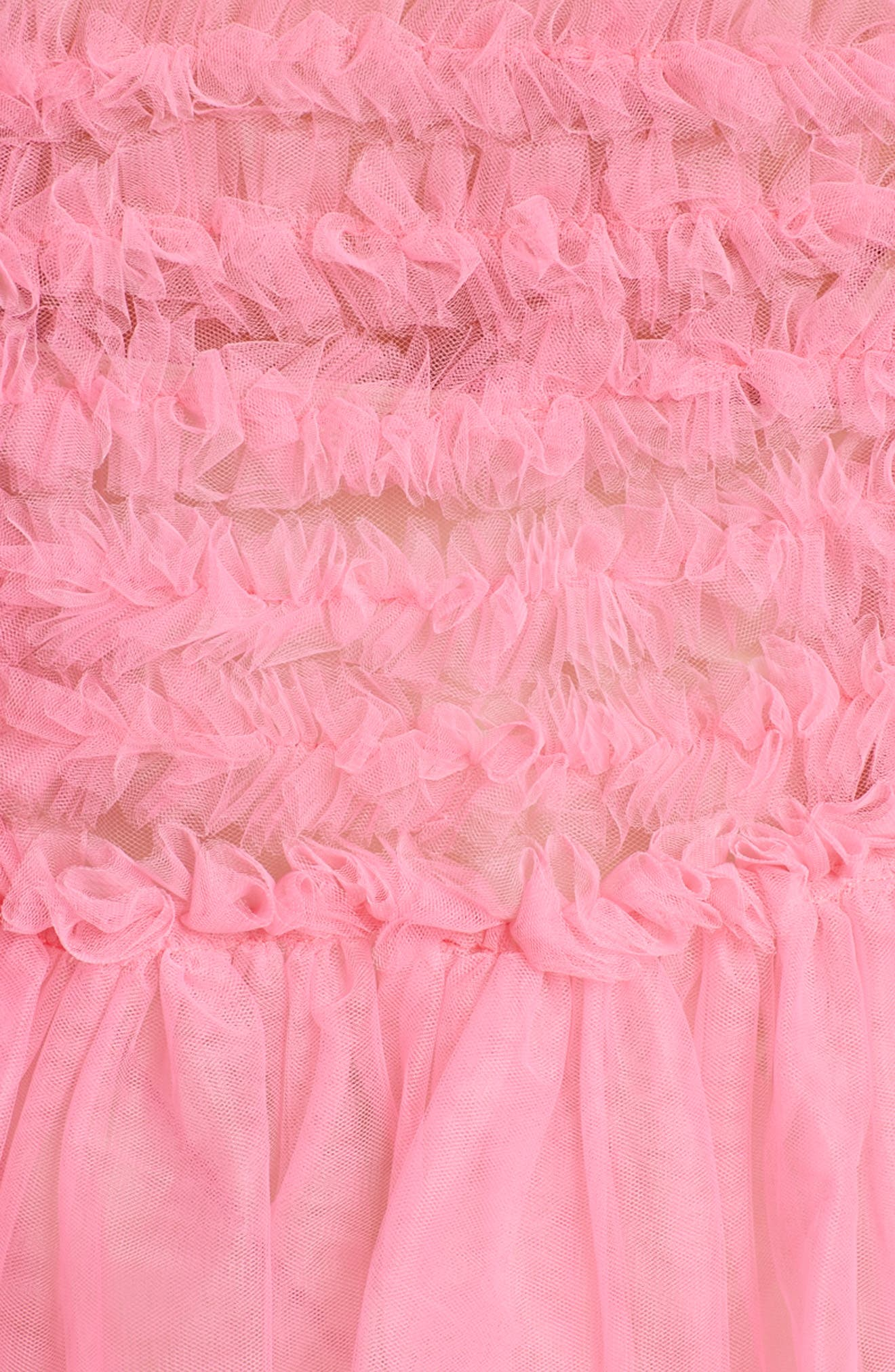 Funky Tulle Dress,                             Alternate thumbnail 3, color,                             Pink