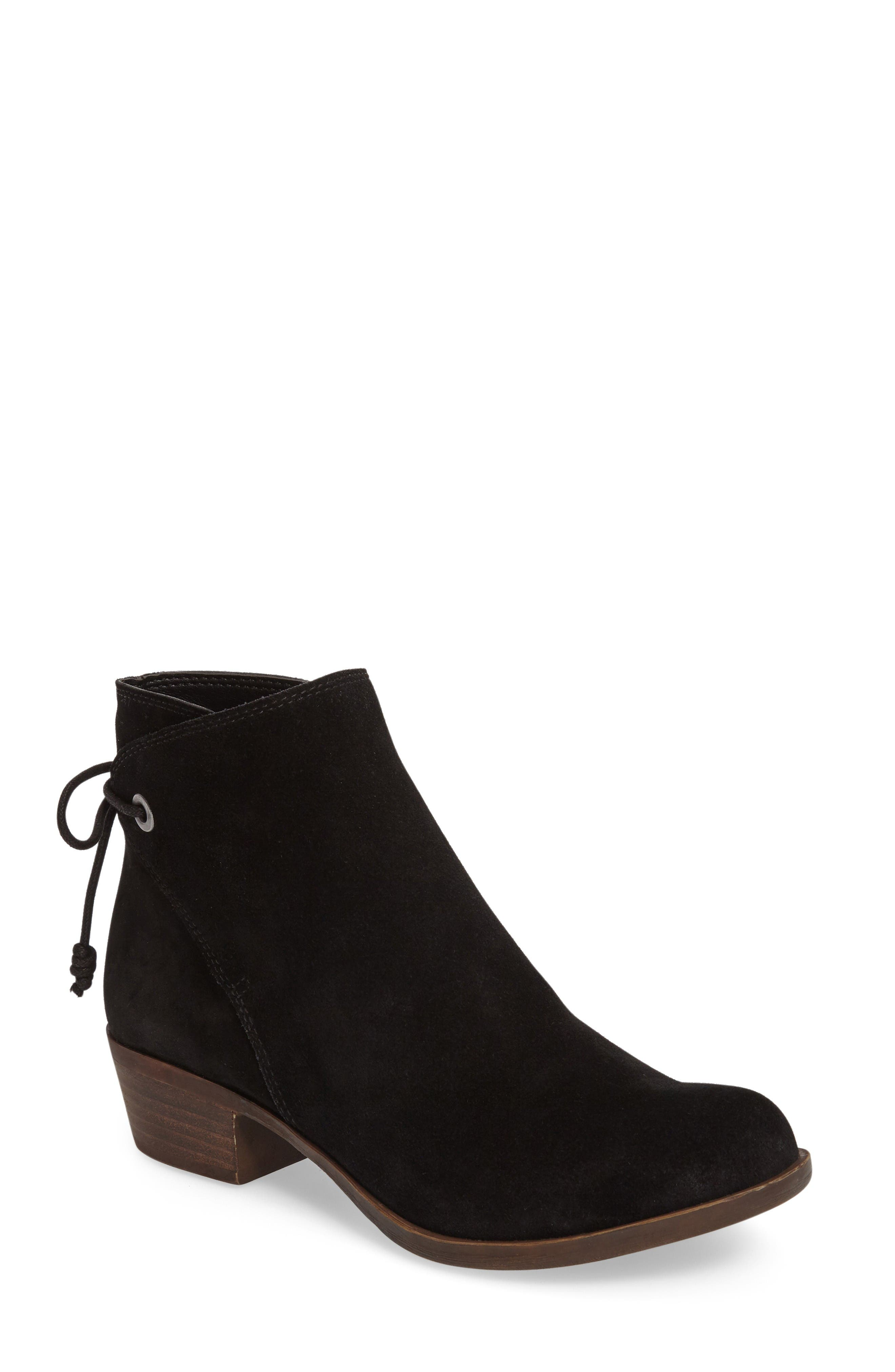 Alternate Image 1 Selected - Lucky Brand Gwenore Tie Bootie (Women)