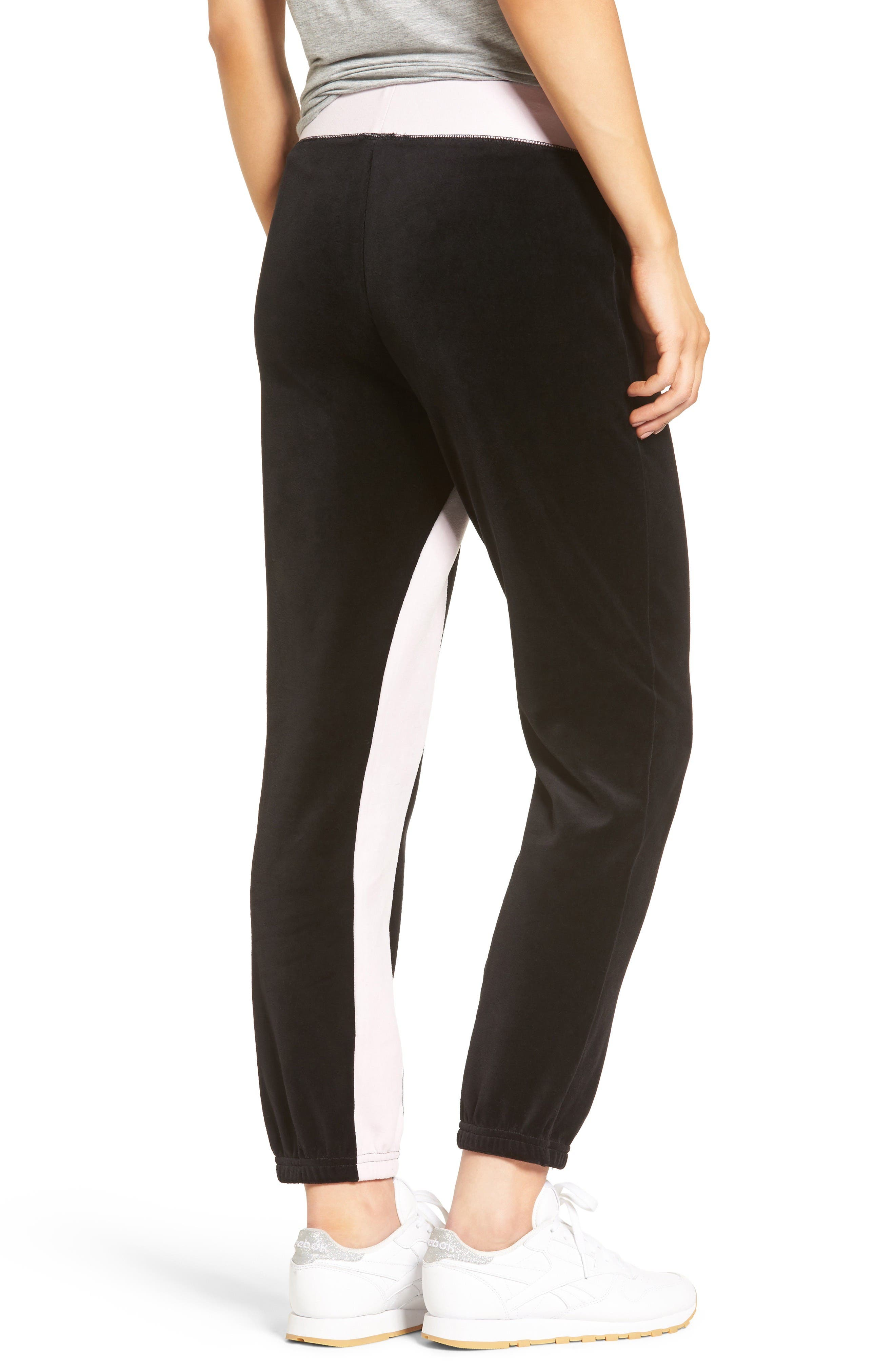 Alternate Image 2  - Juicy Couture Silverlake Colorblock Velour Track Pants