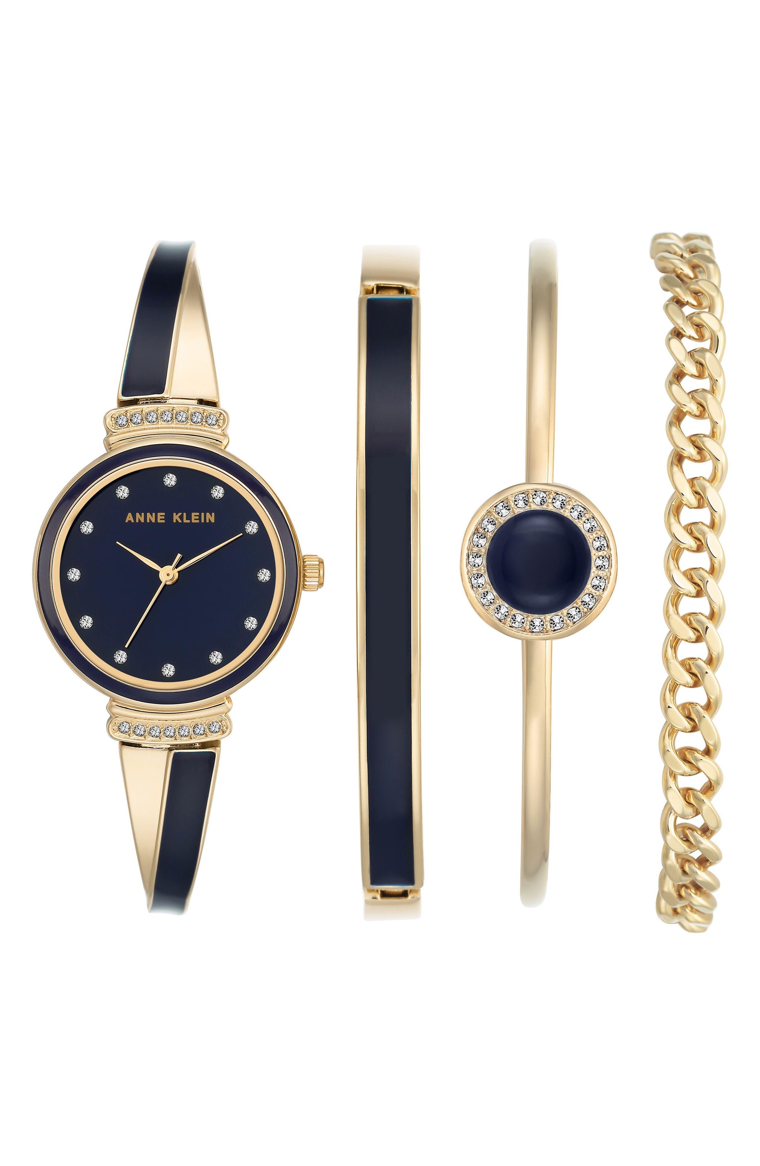ANNE KLEIN Bangle Watch & Bracelet Set, 26mm