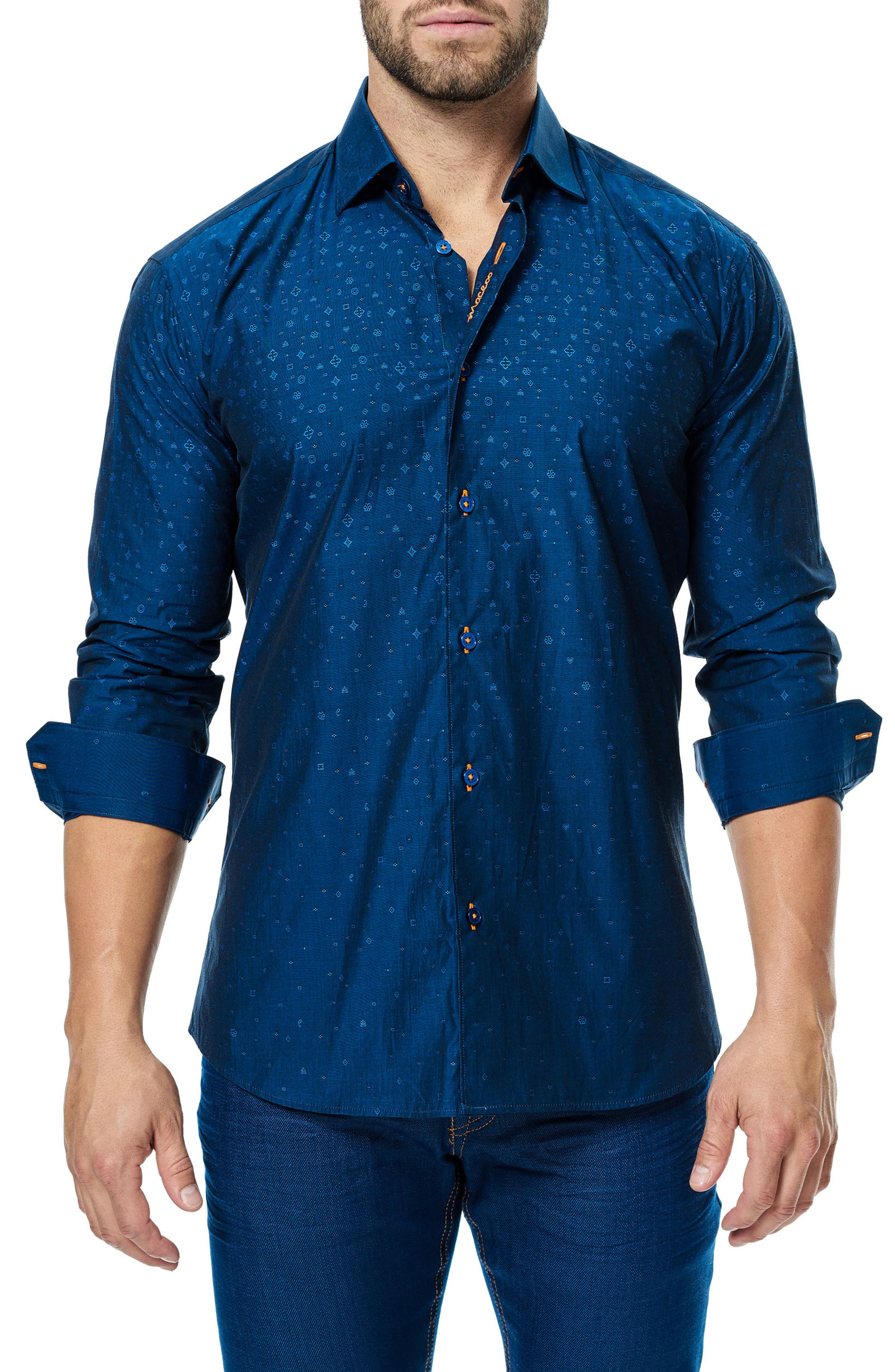 Luxor Icons Sport Shirt,                         Main,                         color, Navy Blue