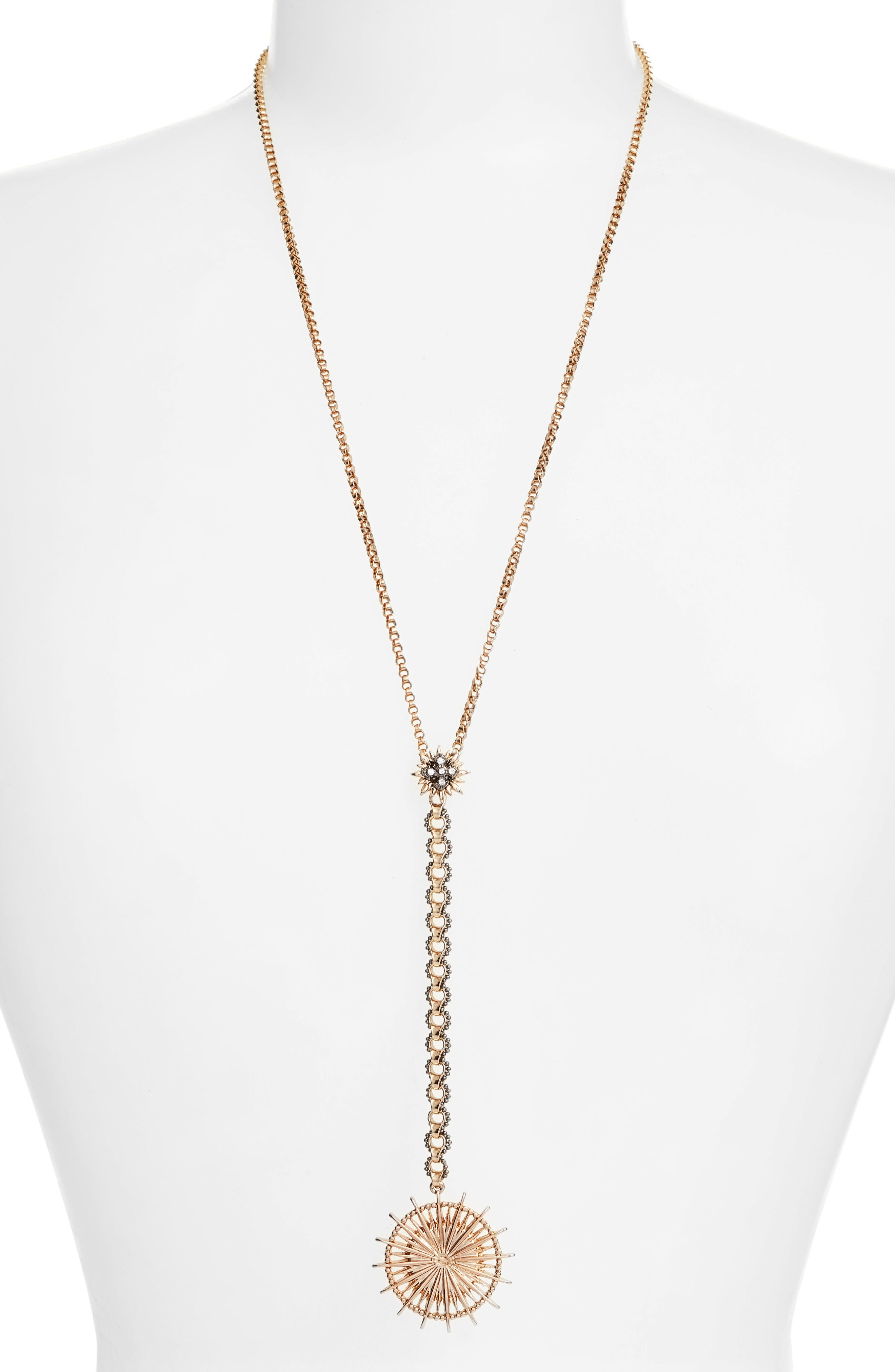Light Up the Night Y-Necklace,                         Main,                         color, Gold