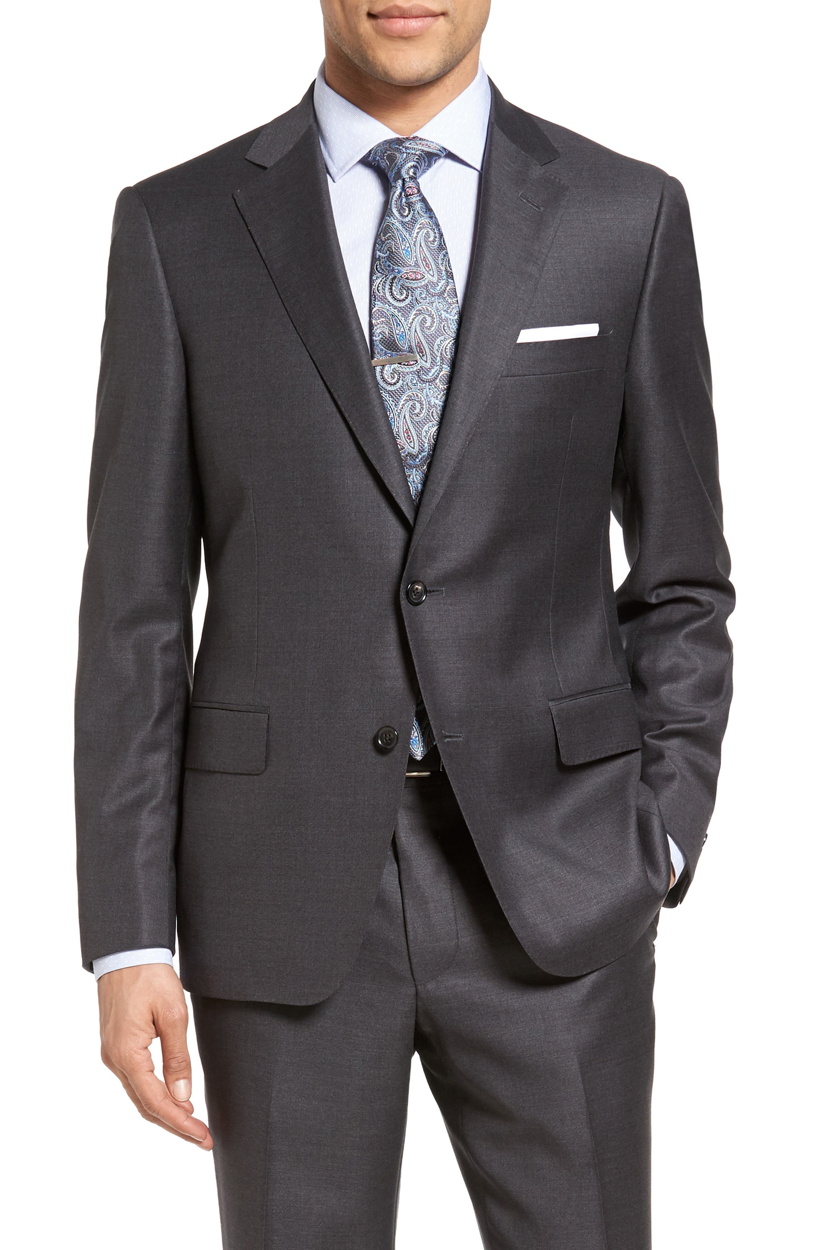 Beckett Classic Fit Solid Wool Suit,                             Alternate thumbnail 5, color,                             Mid Grey