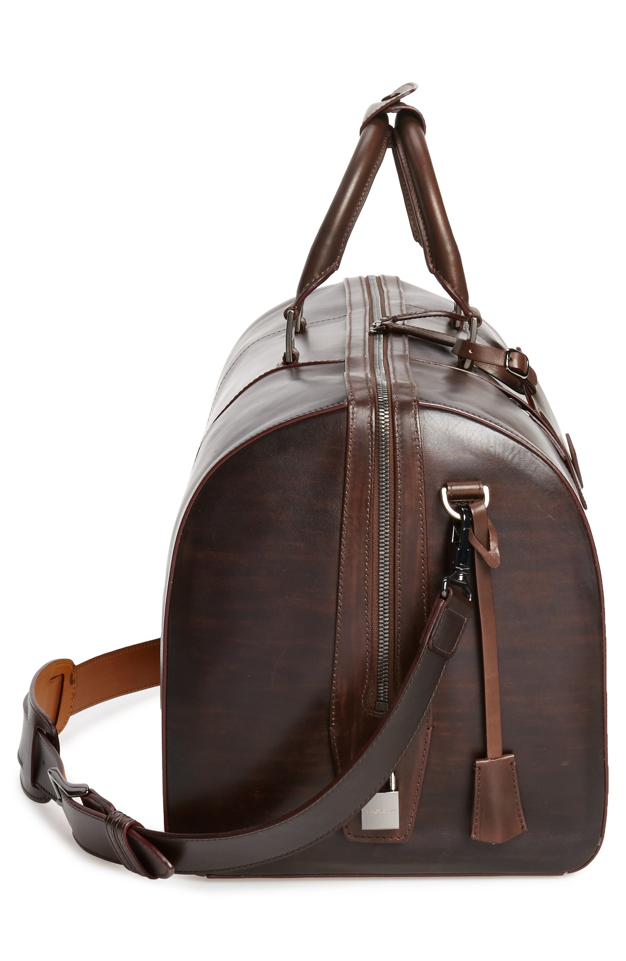 Alternate Image 5  - Magnanni Traveler Leather Duffel Bag
