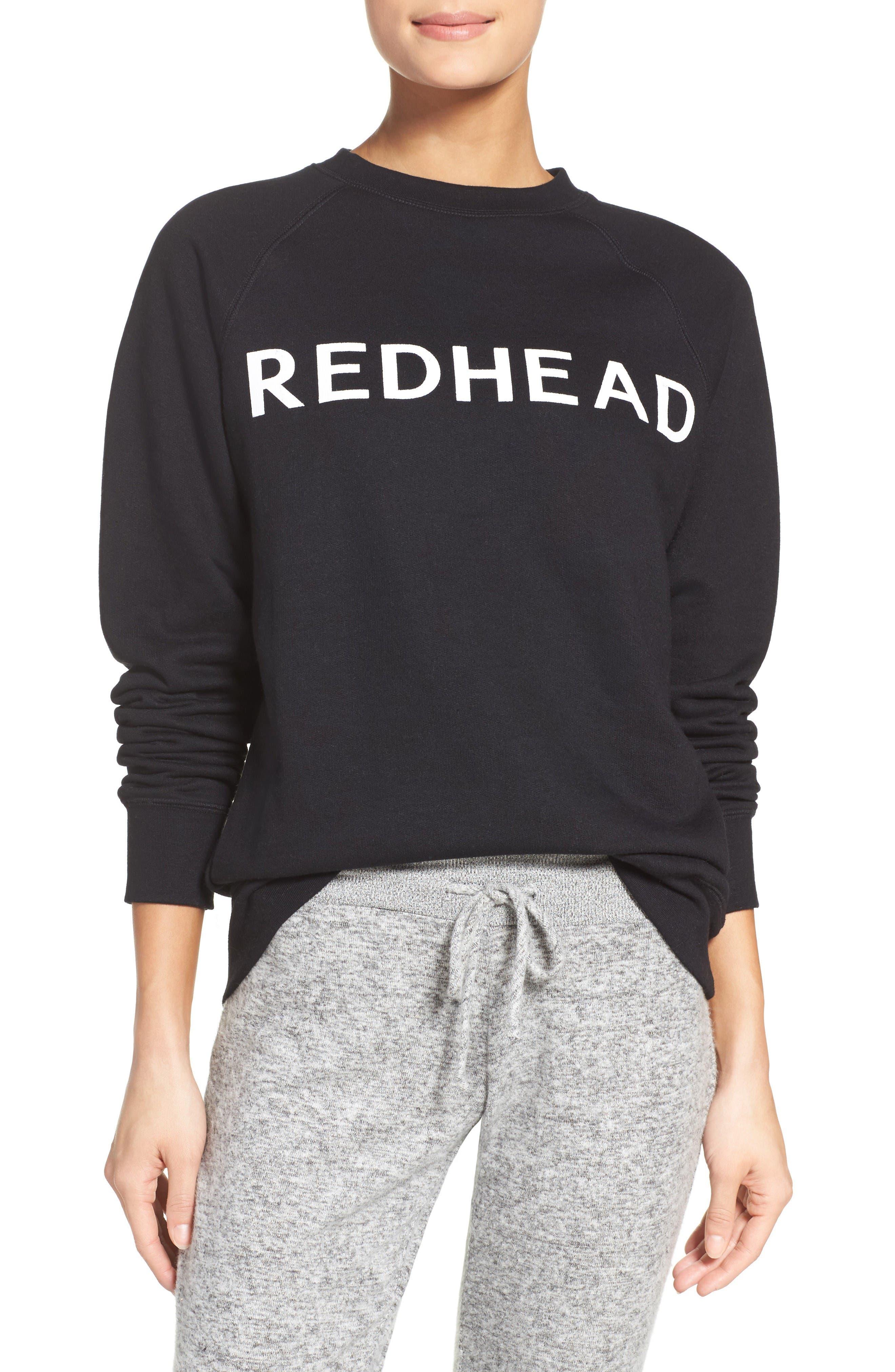 Alternate Image 1 Selected - BRUNETTE the Label Redhead Lounge Sweatshirt