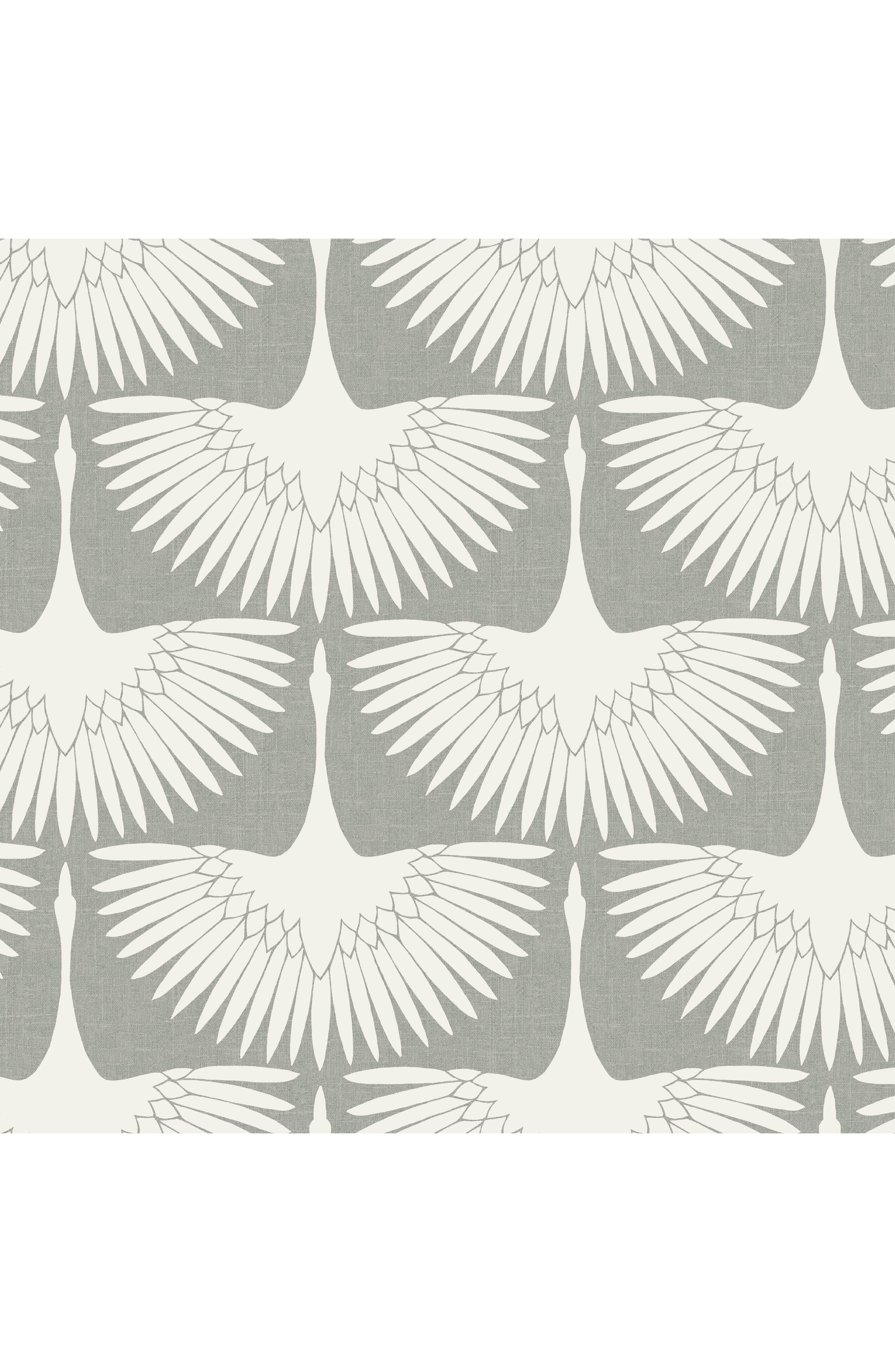 Tempaper Feather Flock Vinyl Wallpaper