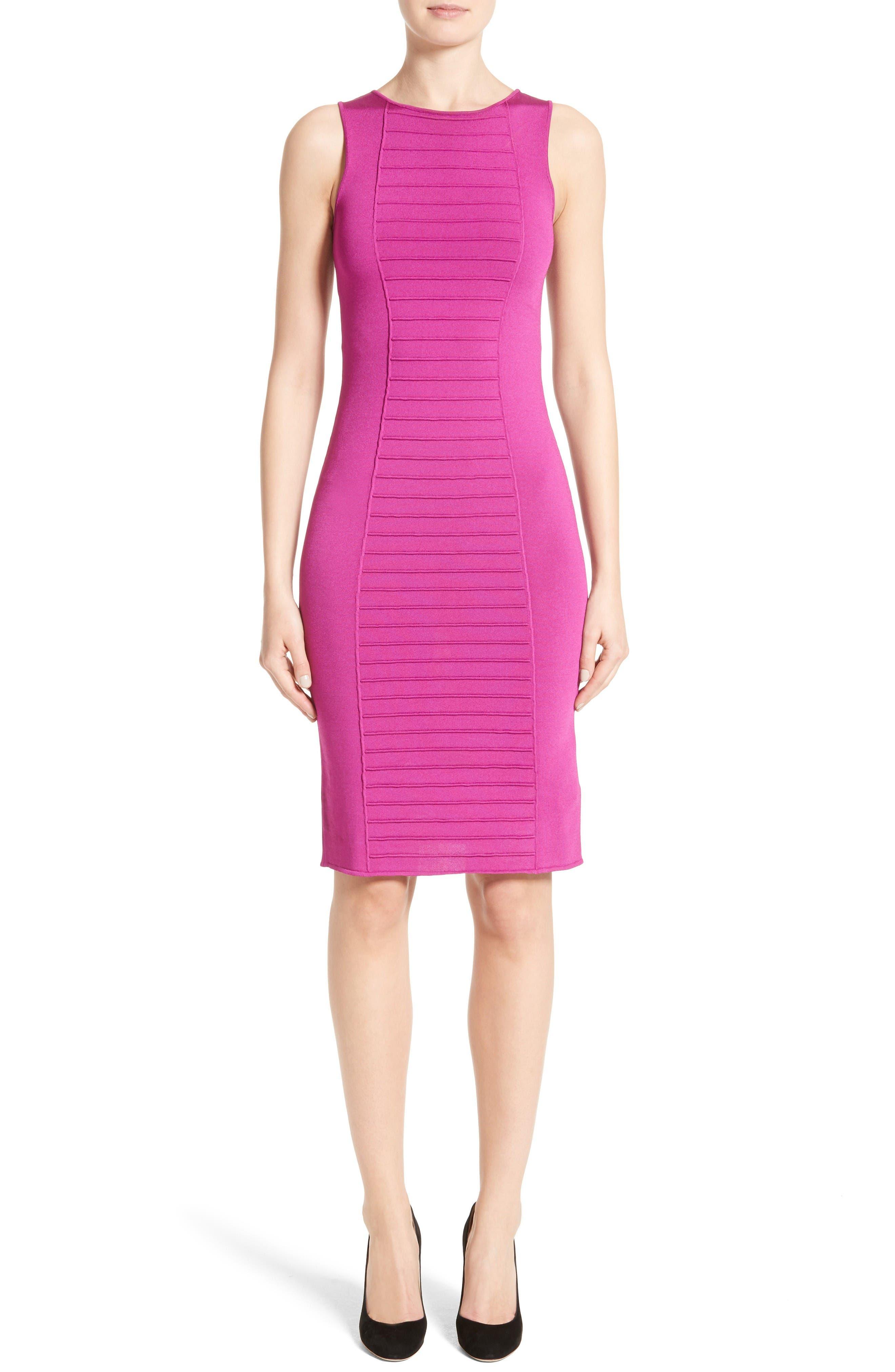 Main Image - Armani Collezioni Micro Pipe Knit Dress