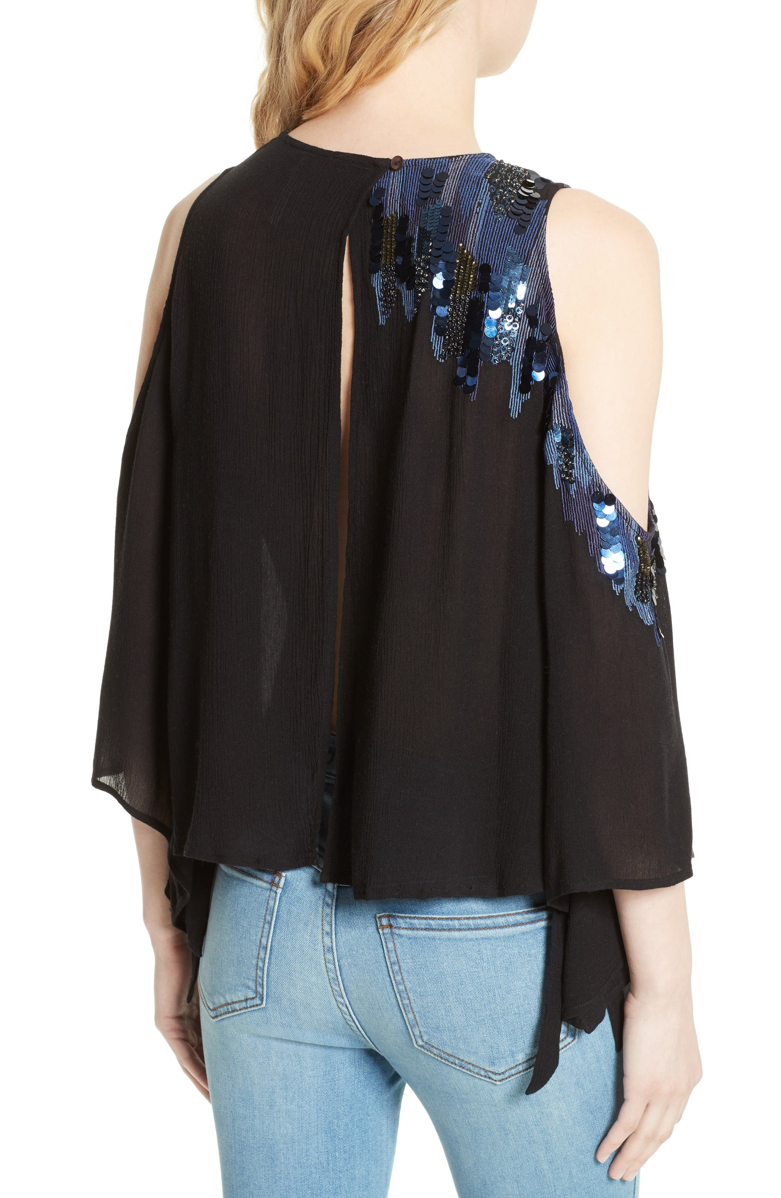 Alternate Image 2  - Free People All About You Embellished Cold Shoulder Top