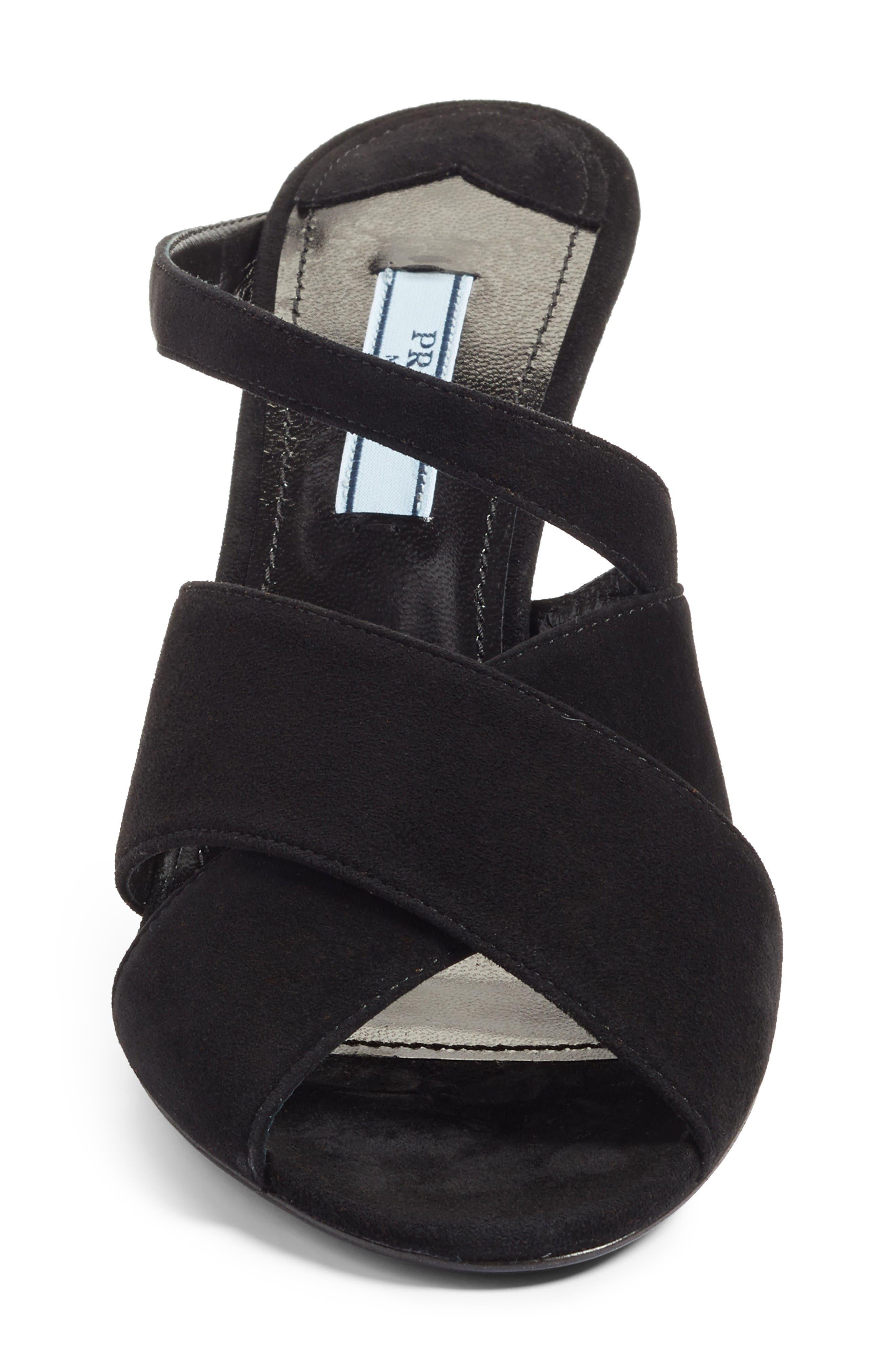 Strappy Sandal,                             Alternate thumbnail 4, color,                             Black