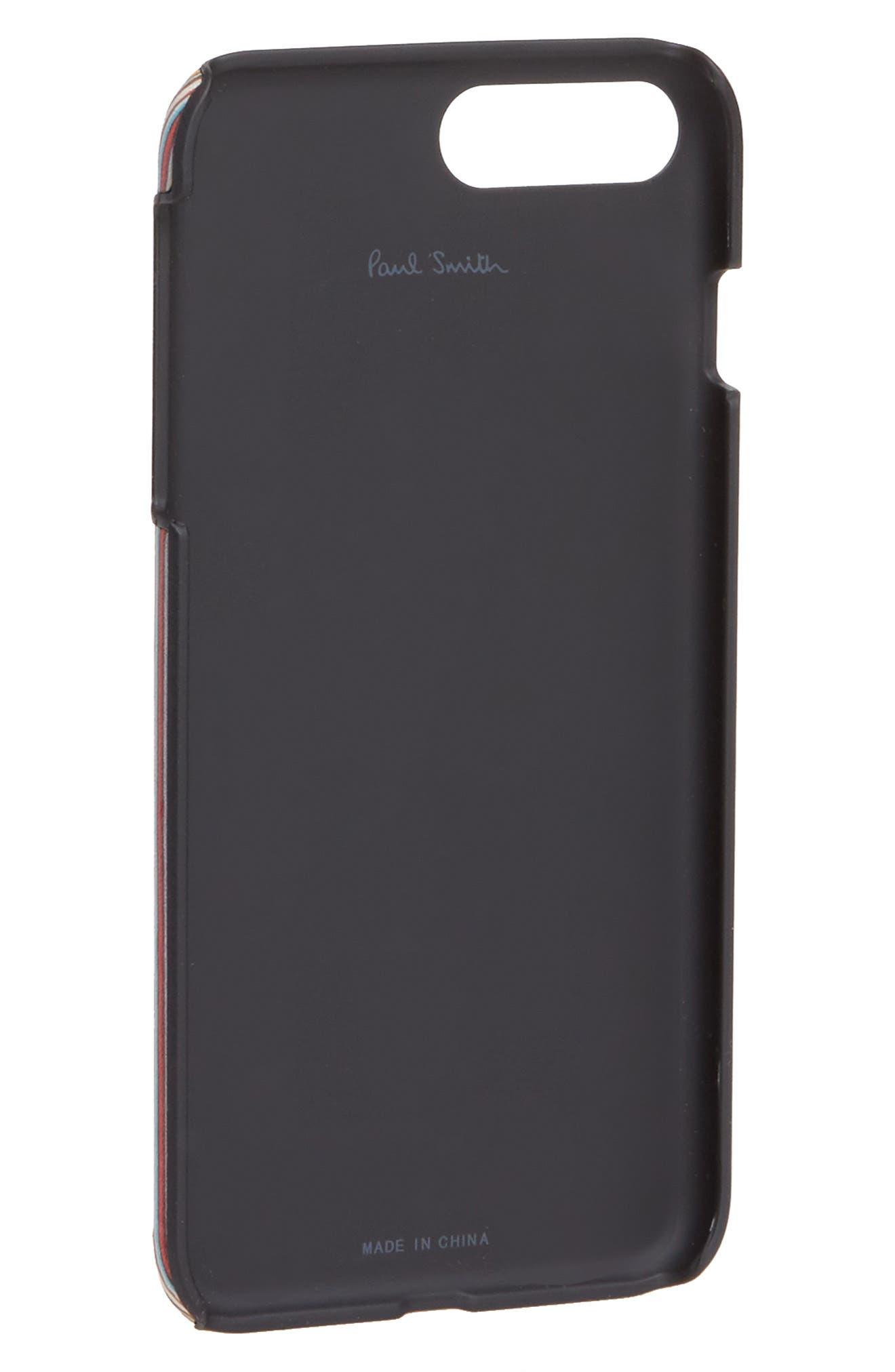 Multistripe iPhone 7 Plus/8 Plus Case,                             Alternate thumbnail 2, color,                             Black
