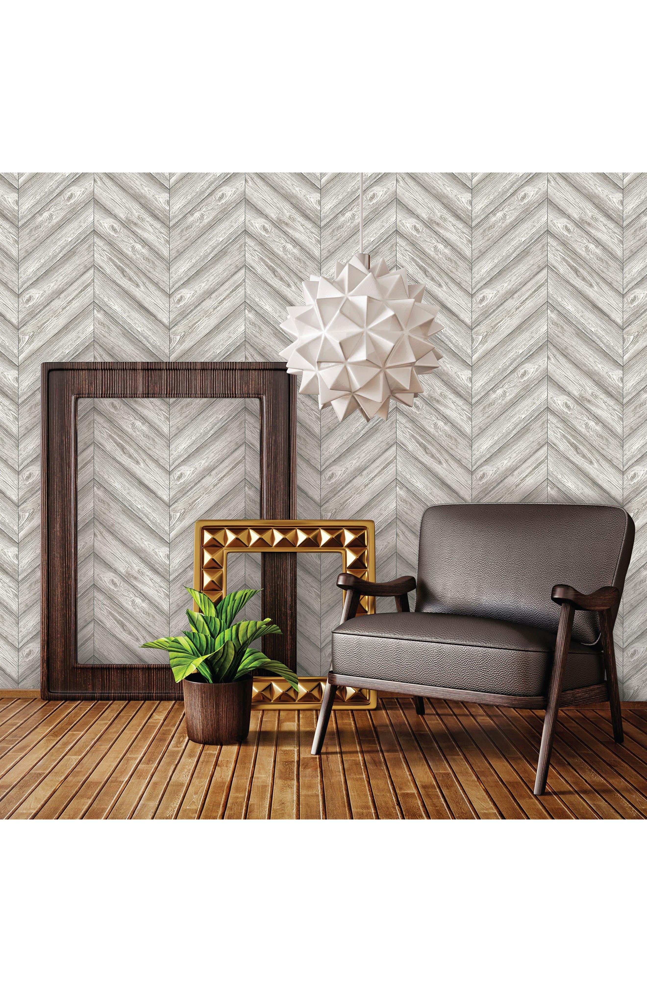Alternate Image 2  - Tempaper Herringbone Self-Adhesive Vinyl Wallpaper