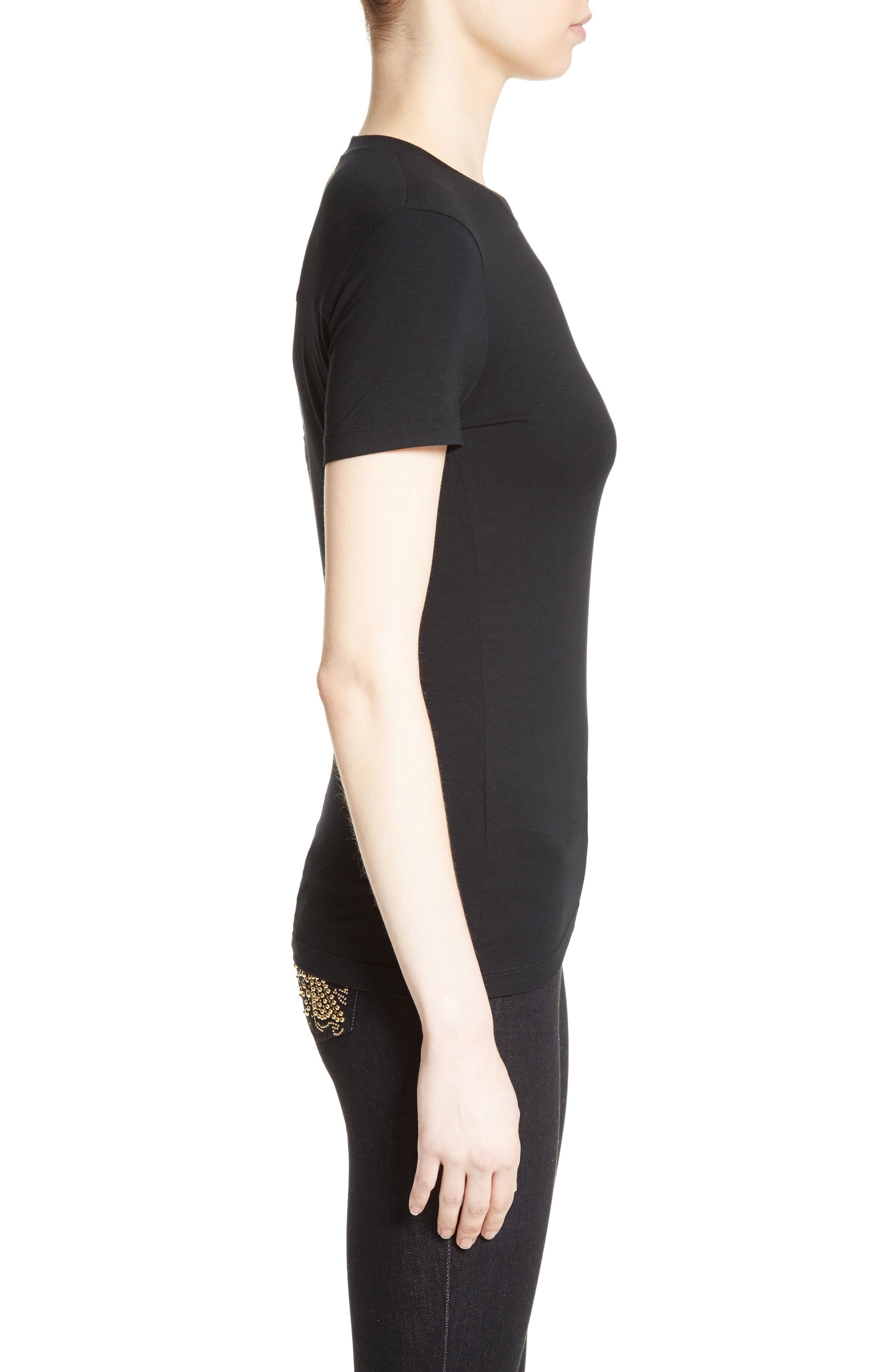 Alternate Image 5  - Versace Collection Back Cutout Logo Tee