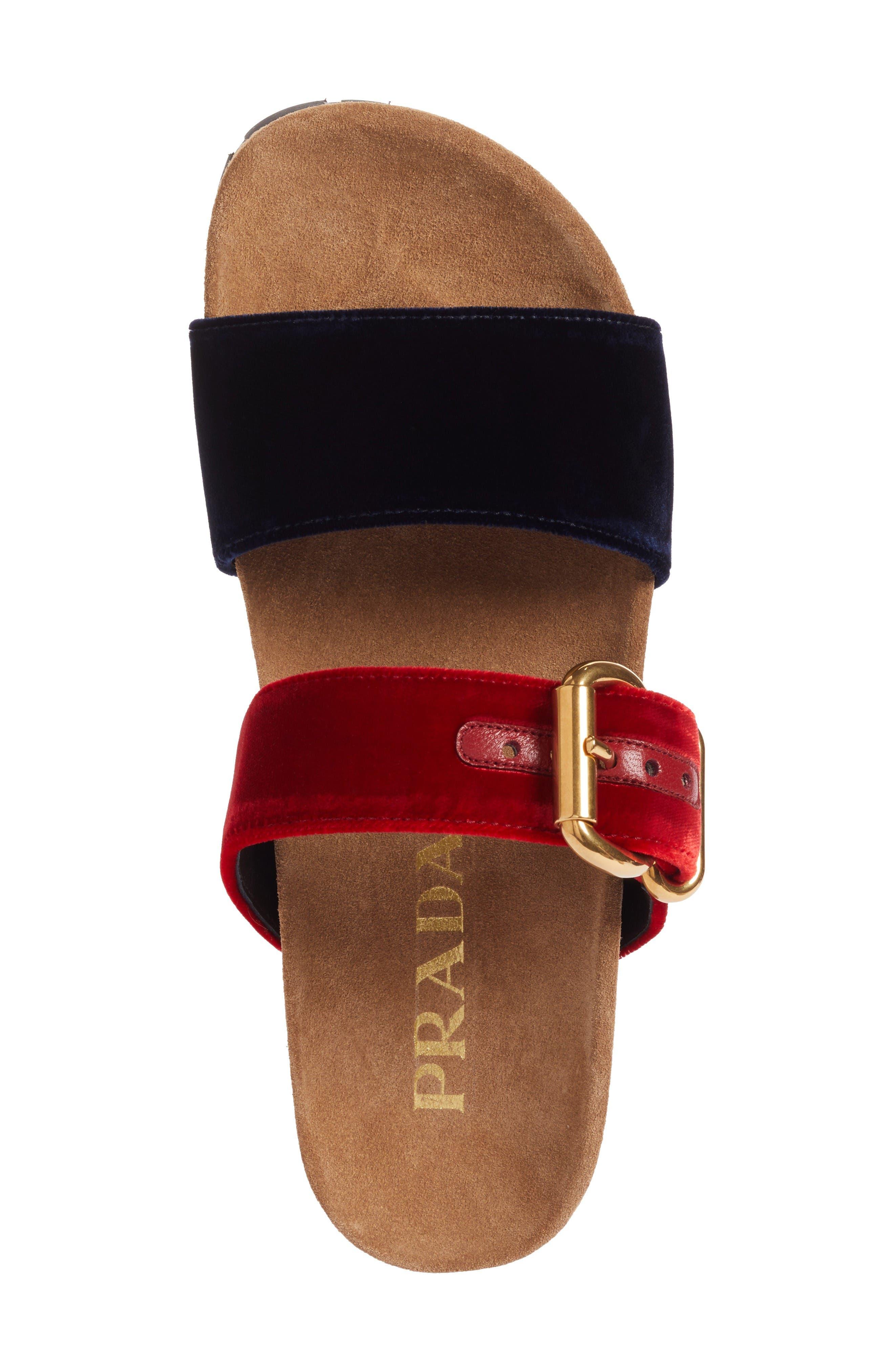 Alternate Image 5  - Prada Double Band Slide Sandal (Women)