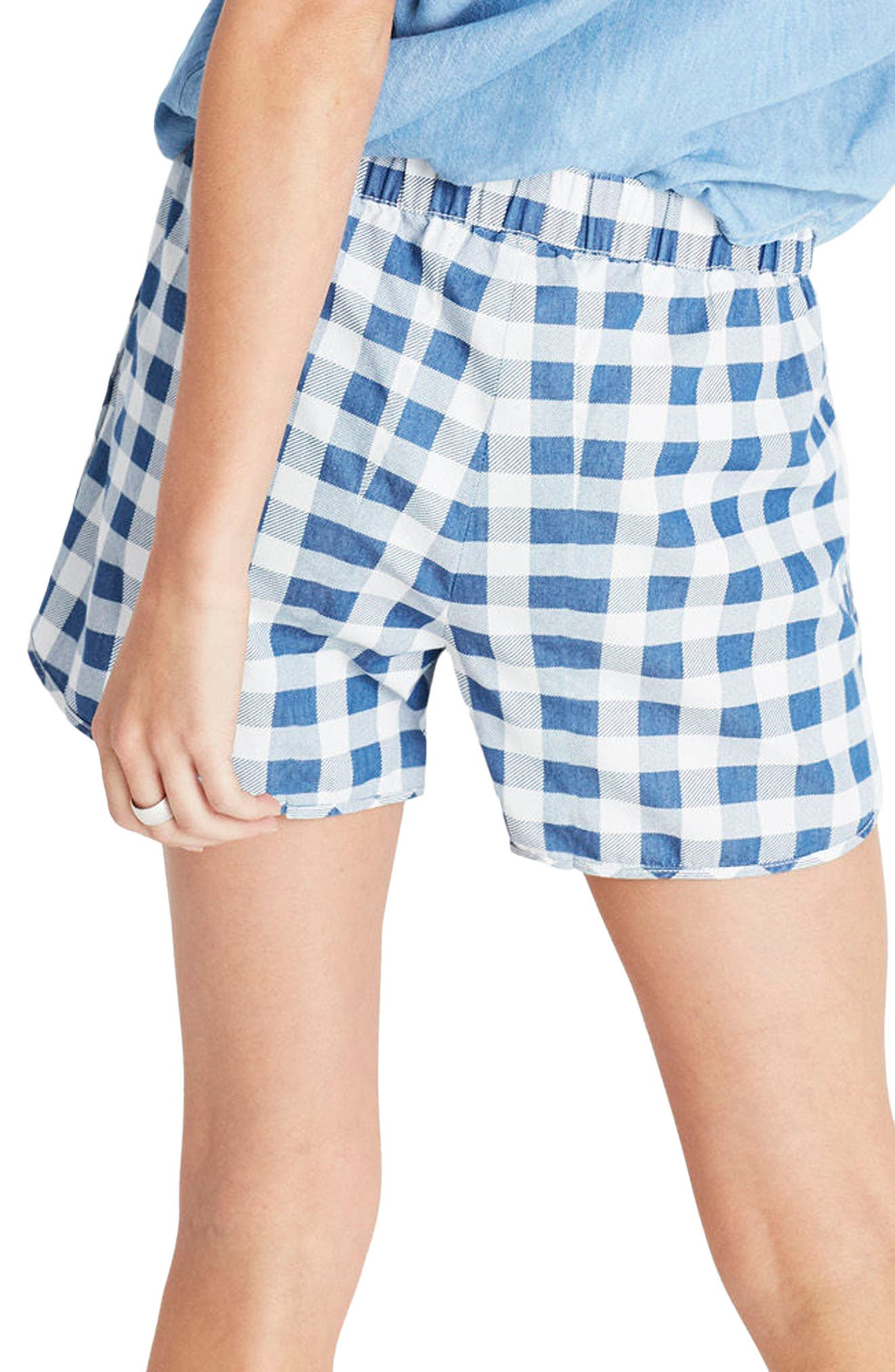 Alternate Image 2  - Madewell Gingham Check Pull-On Shorts