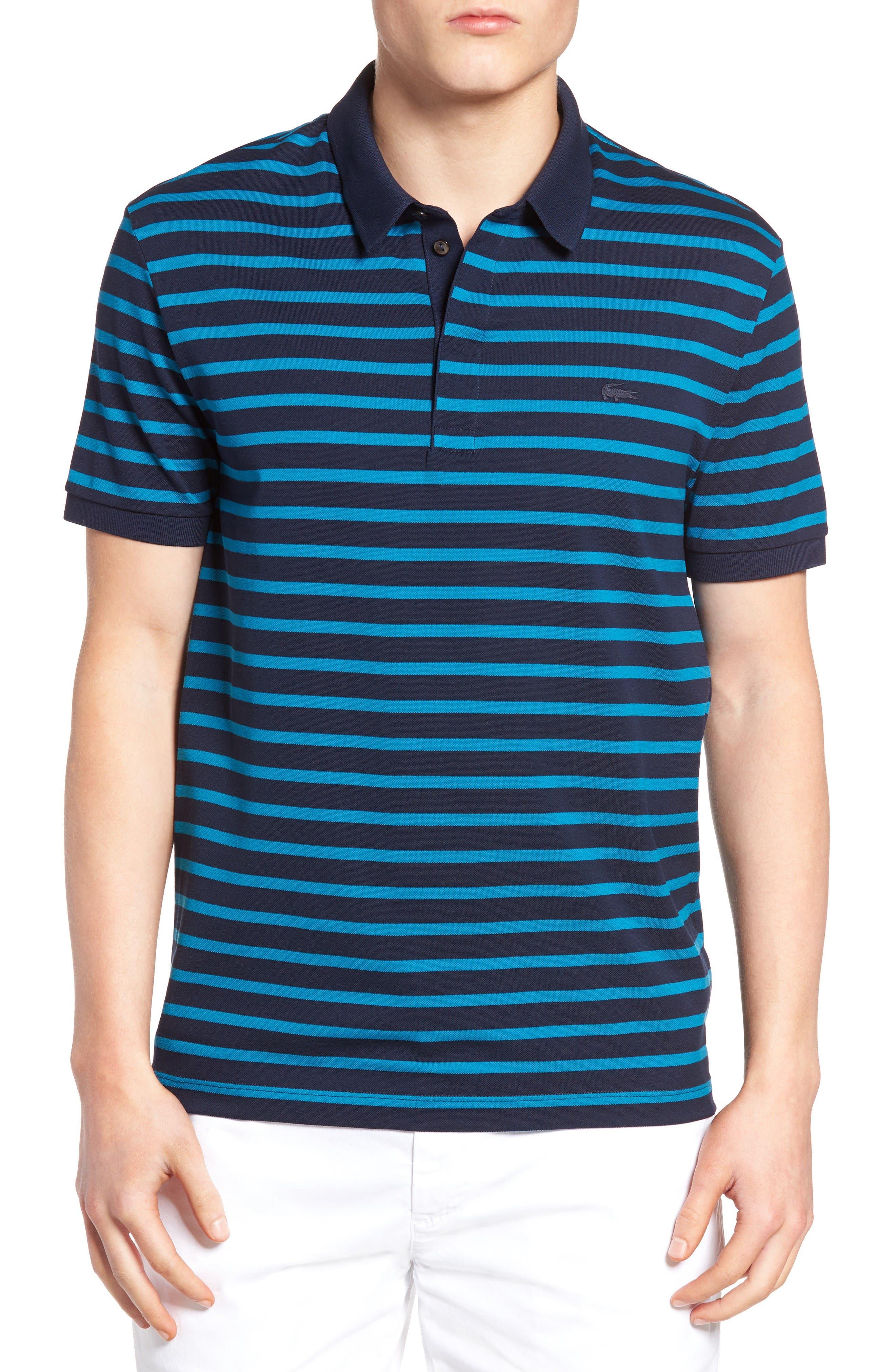 Lacoste Slim Fit Striped Polo