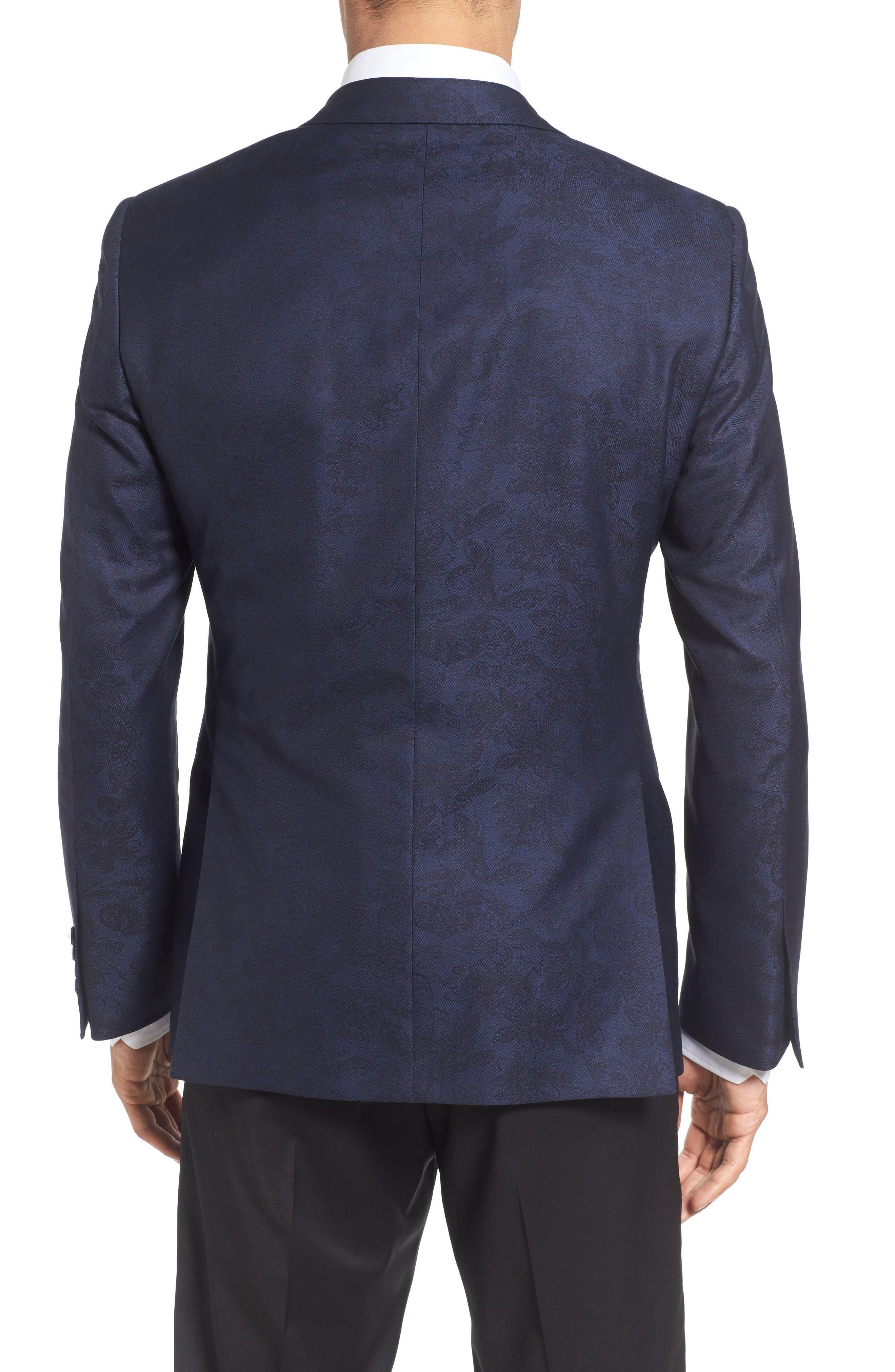 Alternate Image 2  - Samuelsohn Classic Fit Wool & Cotton Dinner Jacket