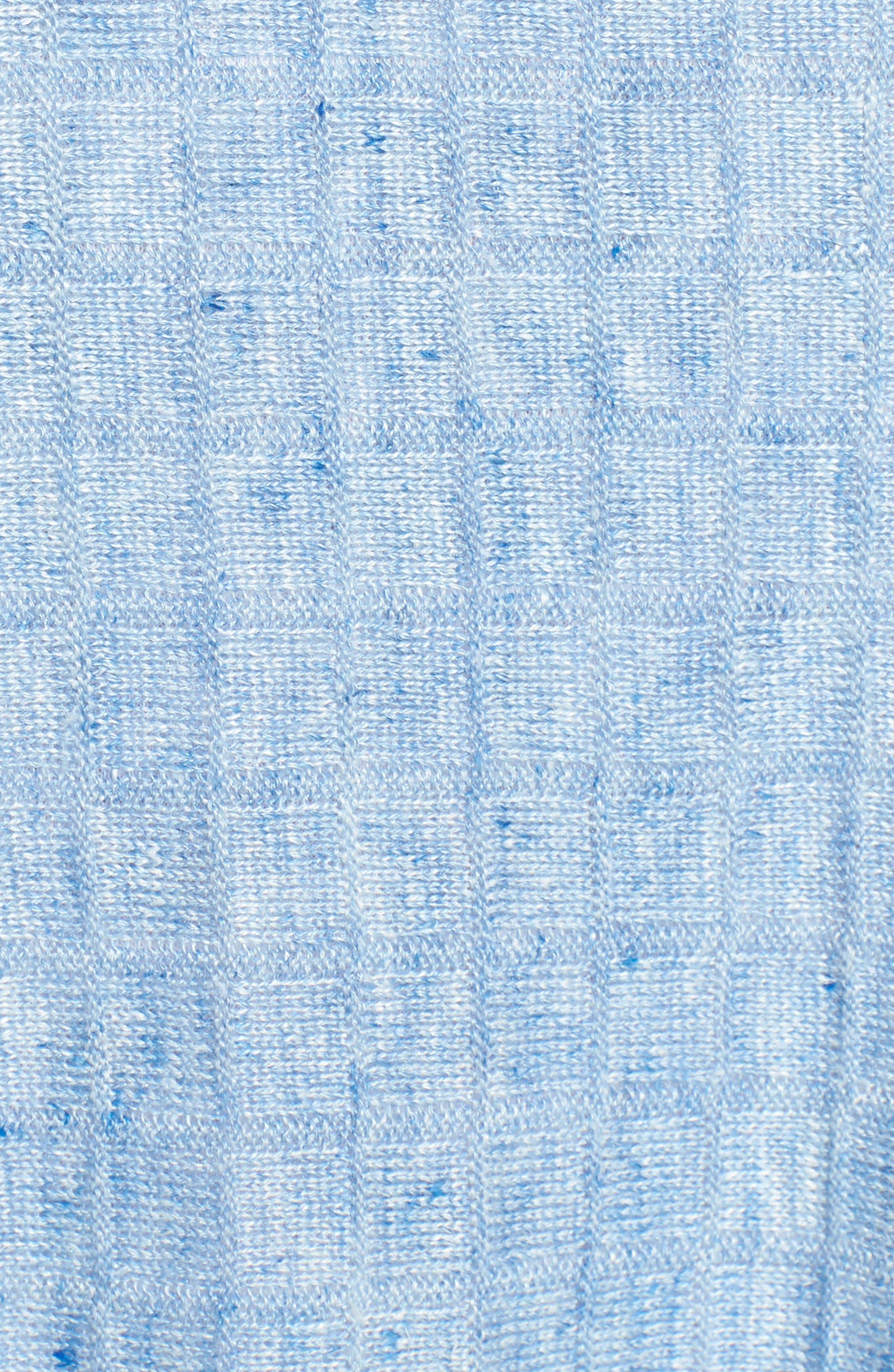 Linen Side Slit Sweater,                             Alternate thumbnail 5, color,                             Sky