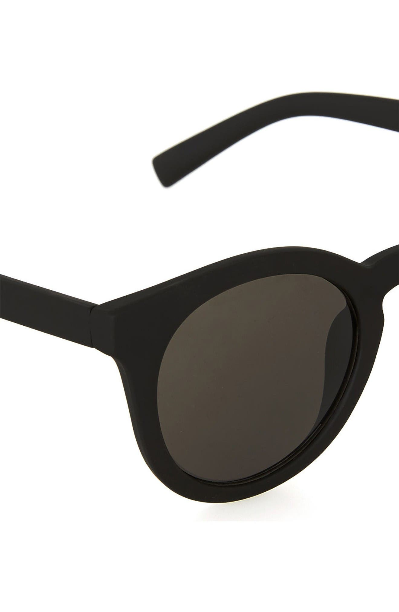 Alternate Image 3  - Topman 46mm Rubberized Round Sunglasses