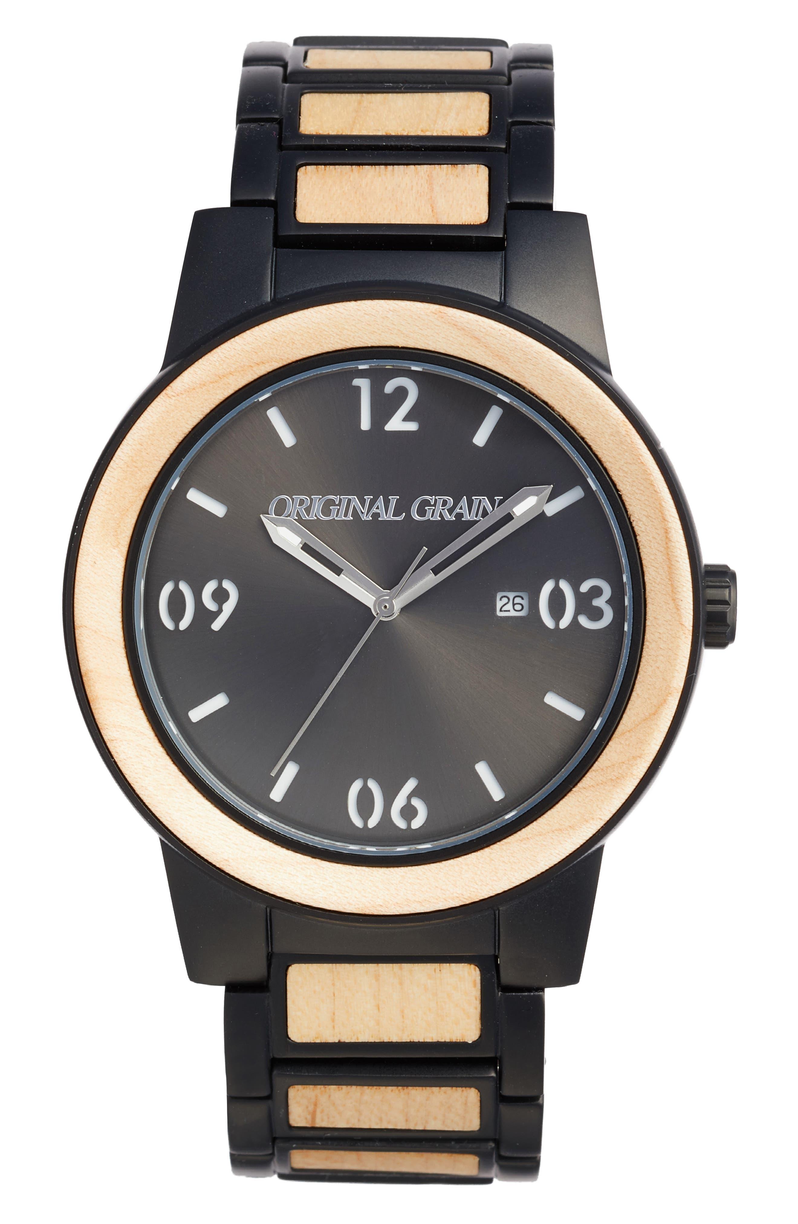 Main Image - Original Grain The Barrel Bracelet Watch, 47mm