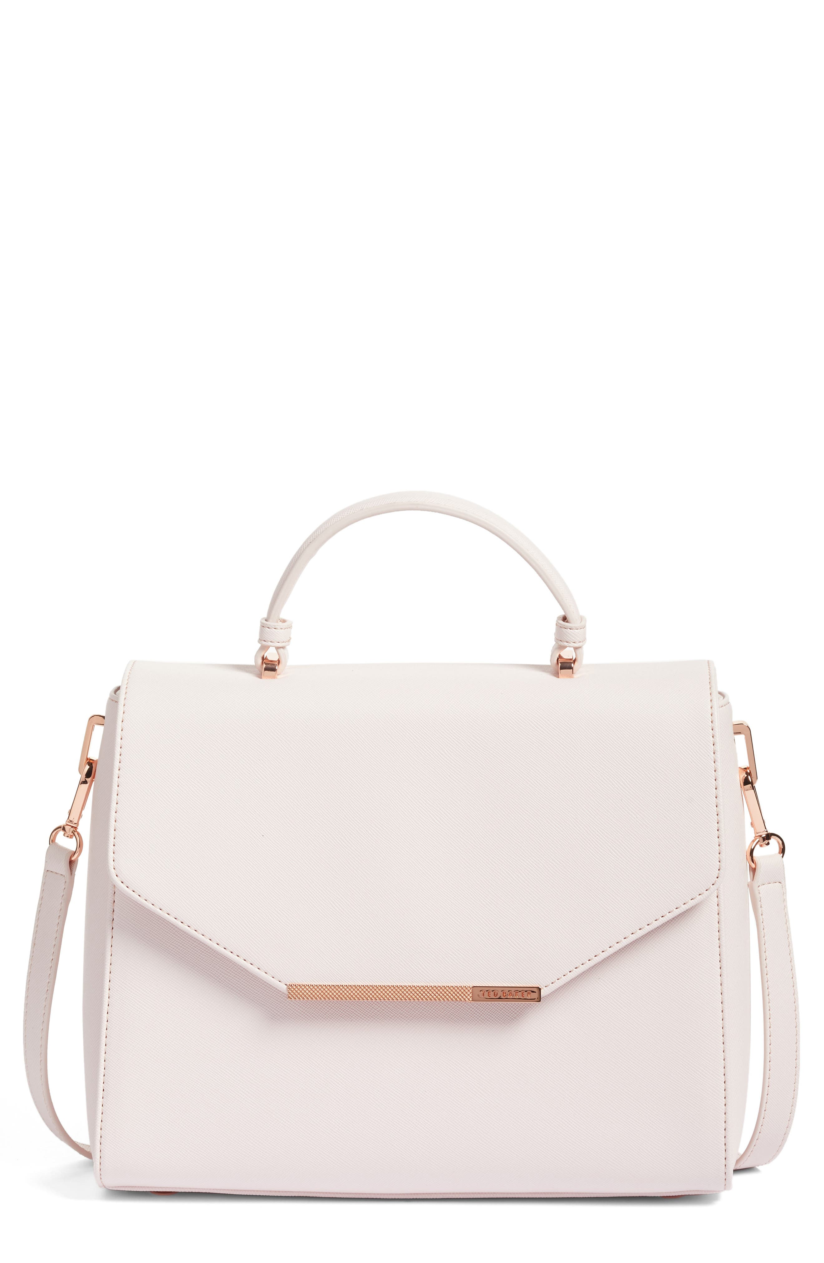 Alternate Image 1 Selected - Ted Baker London Large Dajana Faux Leather Top Handle Satchel (Nordstrom Exclusive)