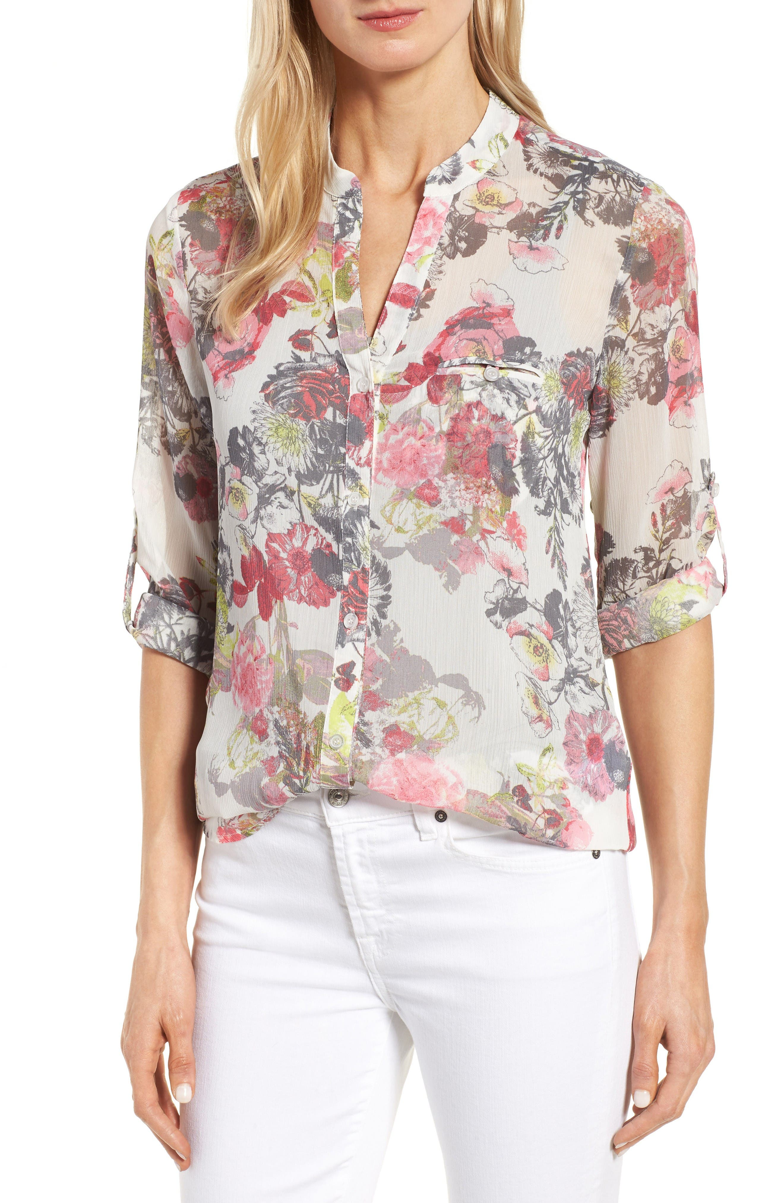 Alternate Image 1 Selected - KUT from the Kloth Floral Print Blouse