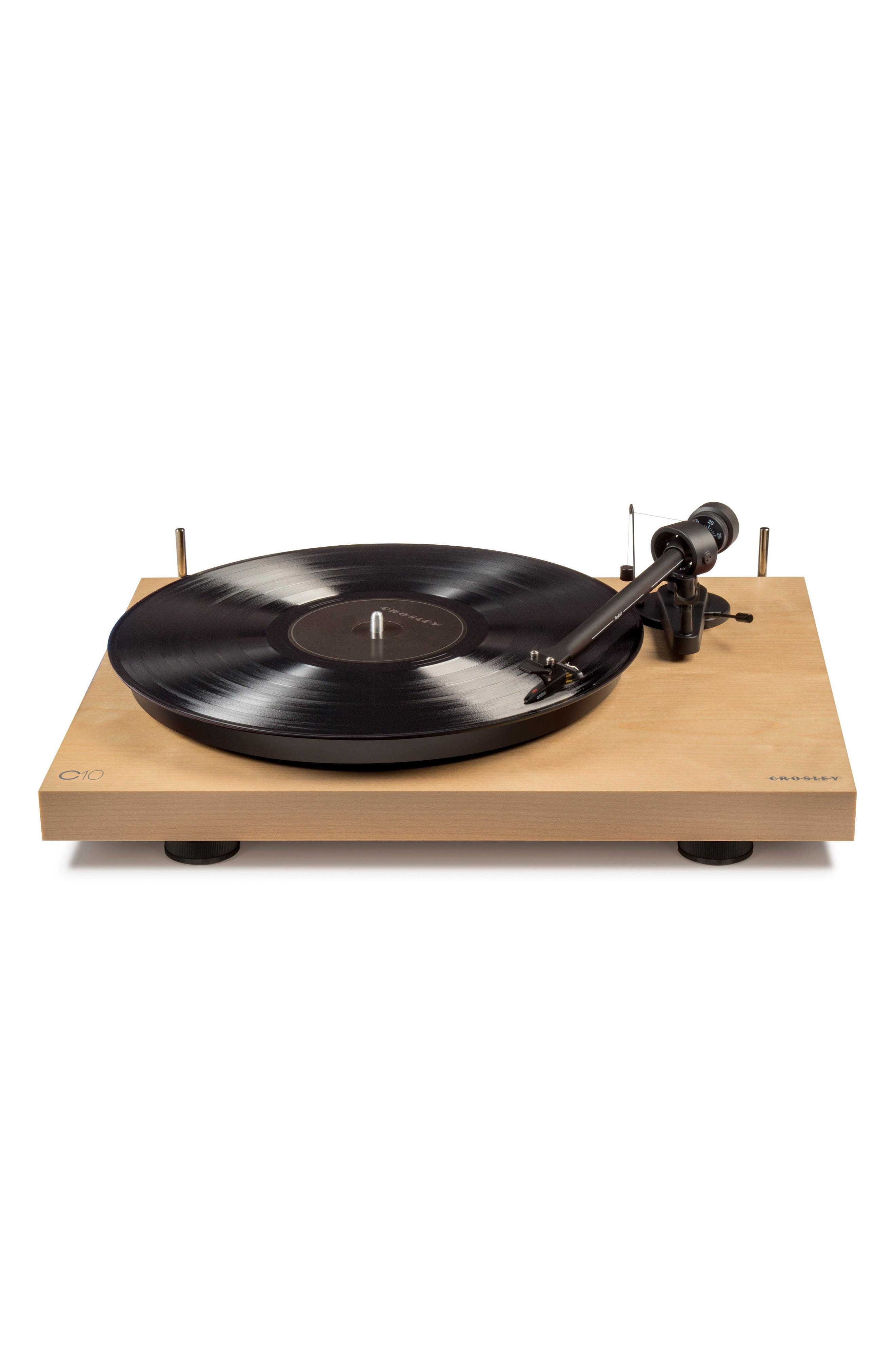 C10 Two-Speed Manual Turntable,                         Main,                         color, Natural