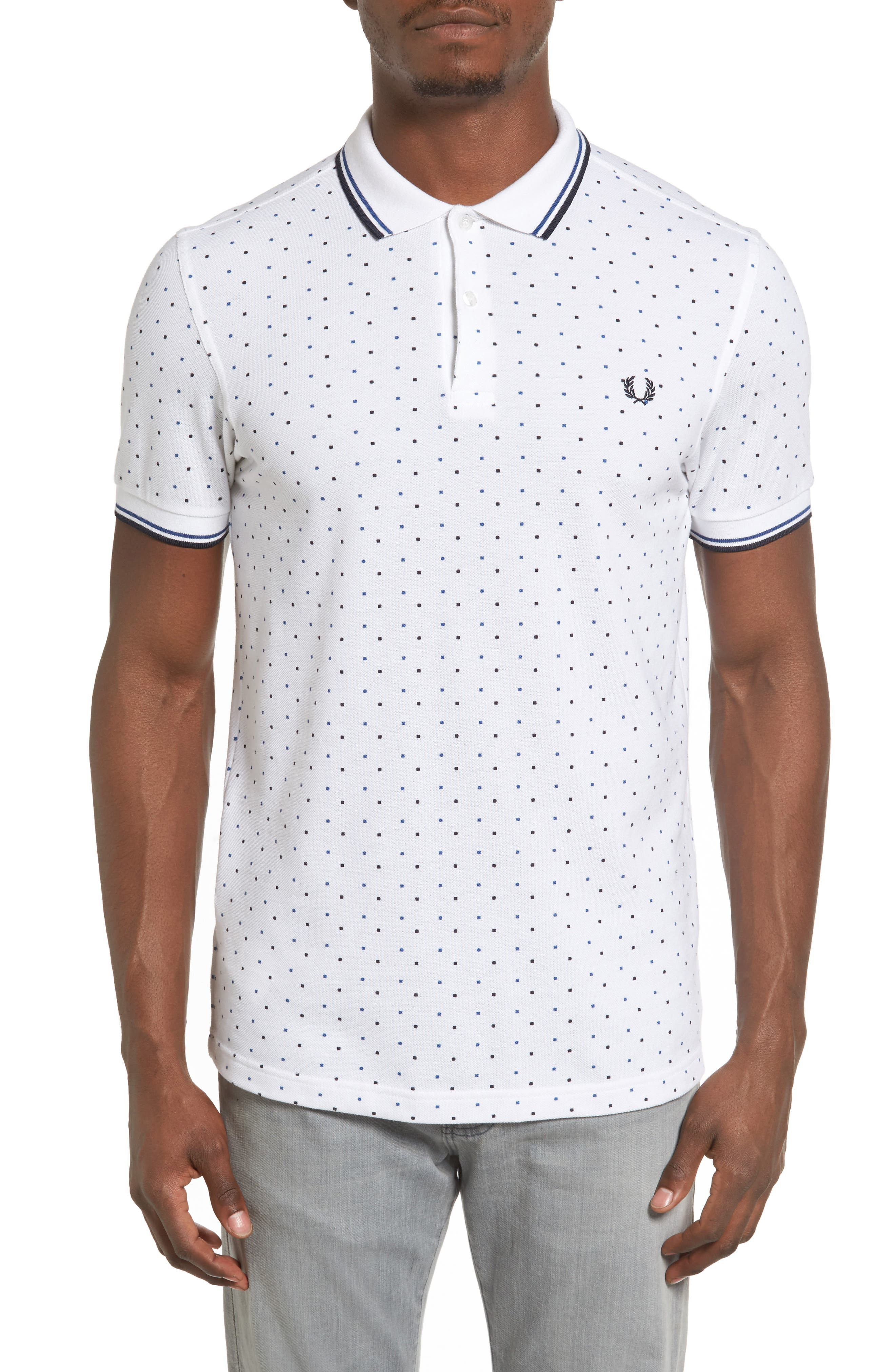 FRED PERRY Square Dot Piqué Polo