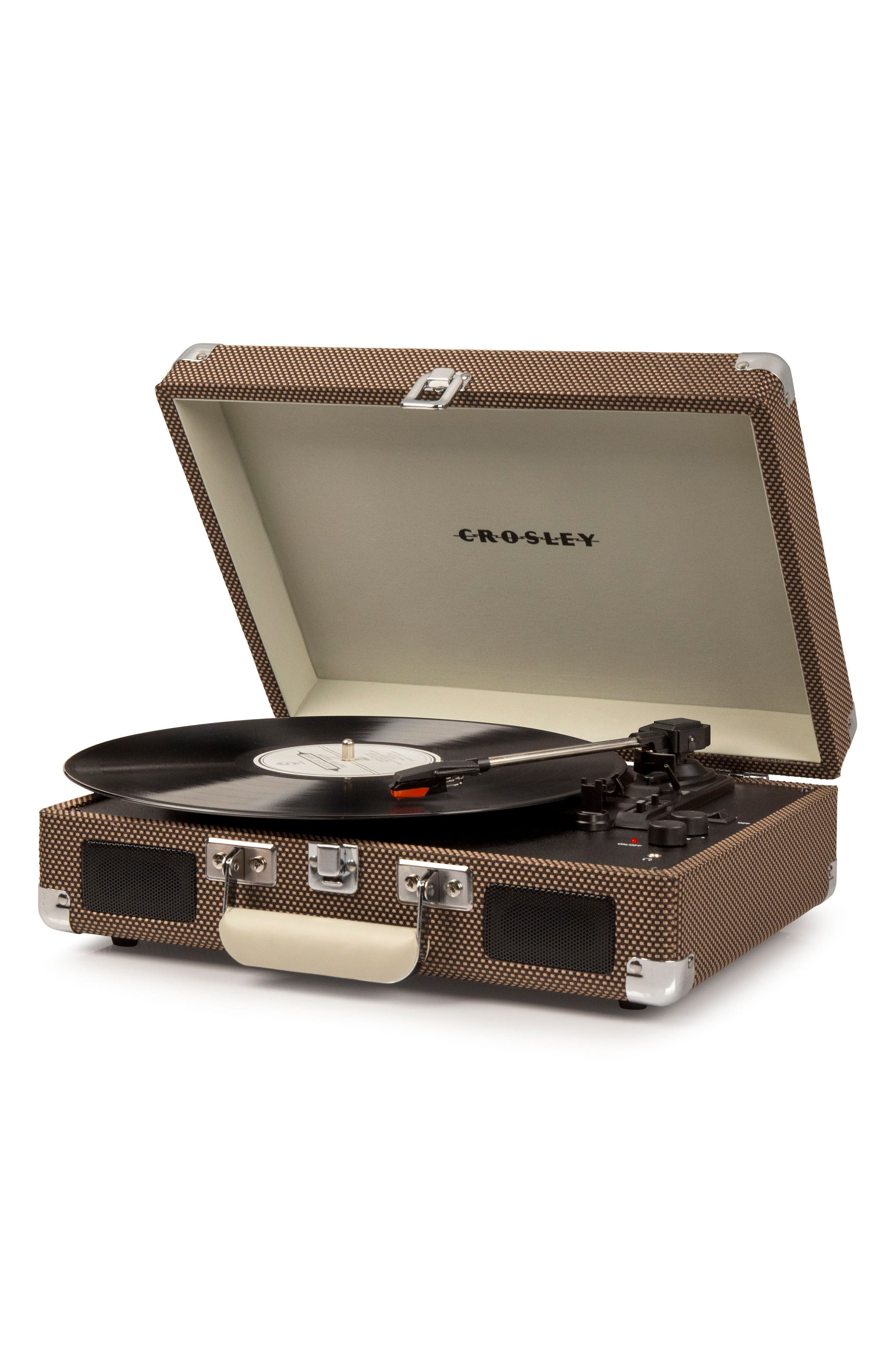 Cruiser Deluxe Turntable,                             Alternate thumbnail 2, color,                             Tweed