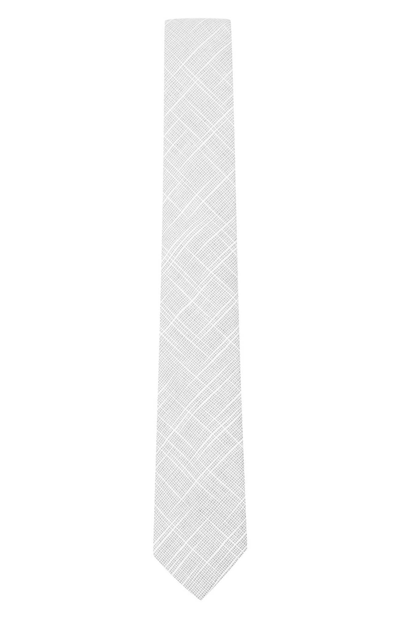 Topman Textured Linen & Cotton Tie