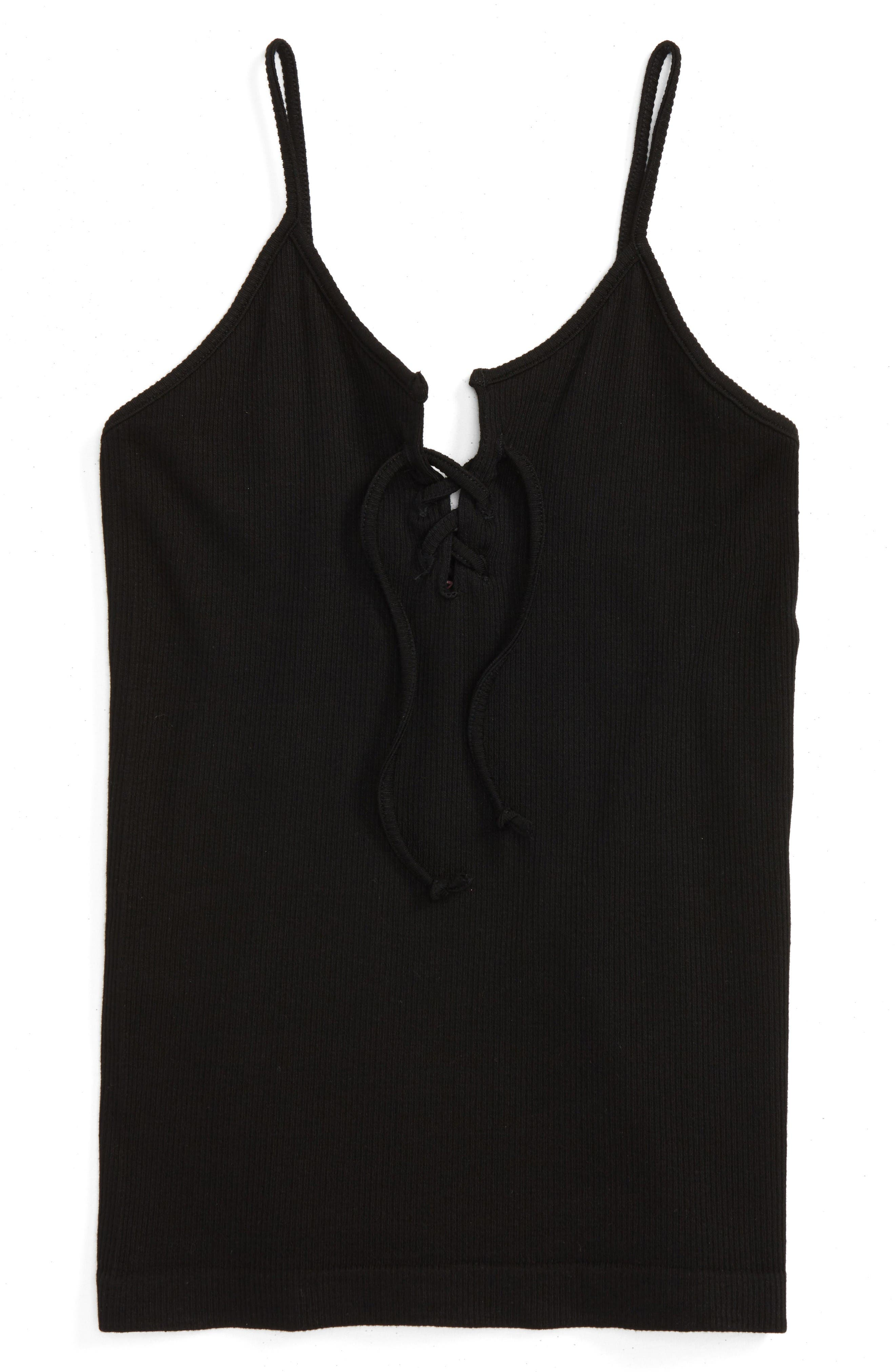 Main Image - Suzette Collection Lace-Up Tank (Big Girls)