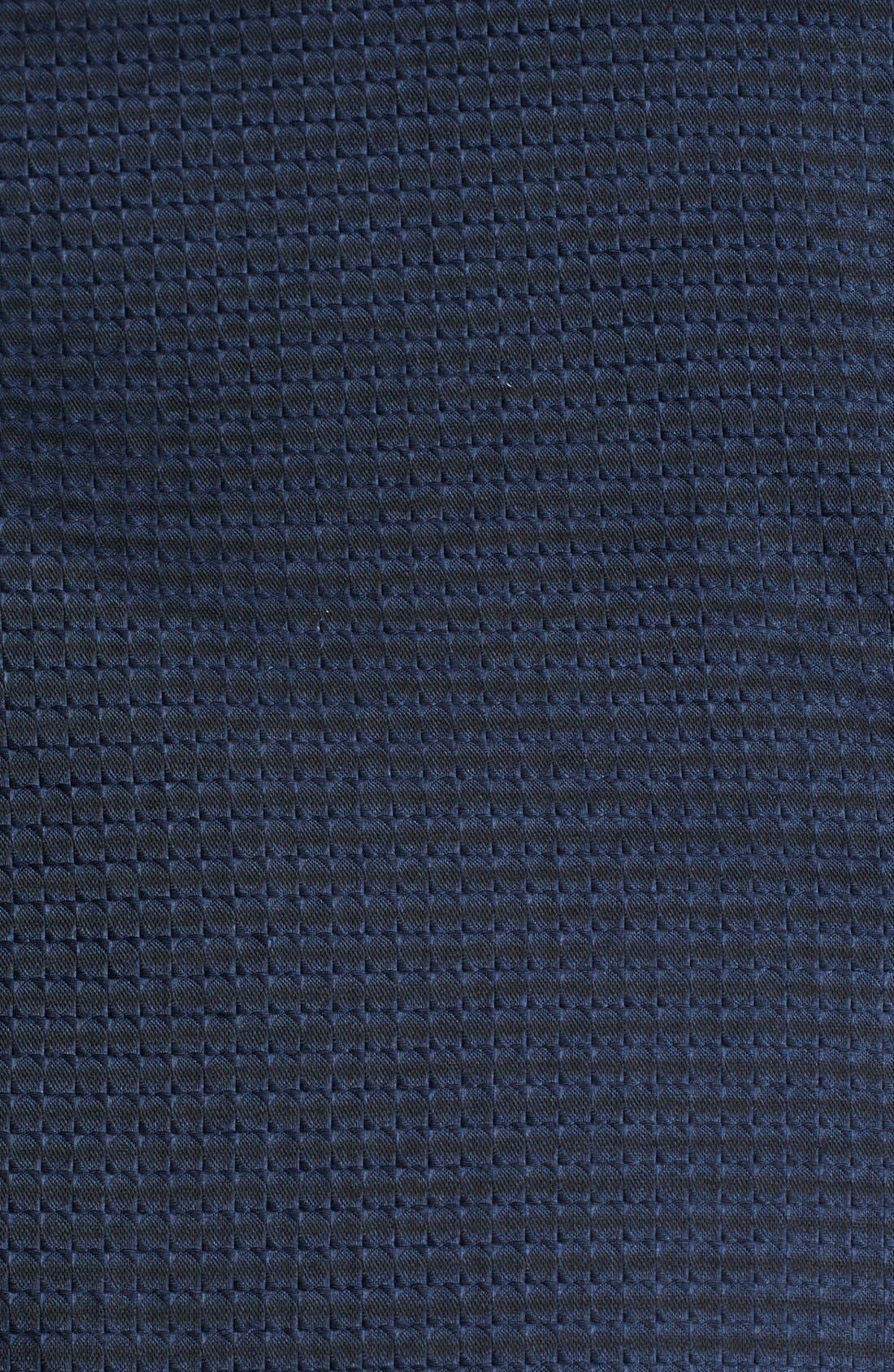 Geometric Textured Sport Shirt,                             Alternate thumbnail 3, color,                             Navy